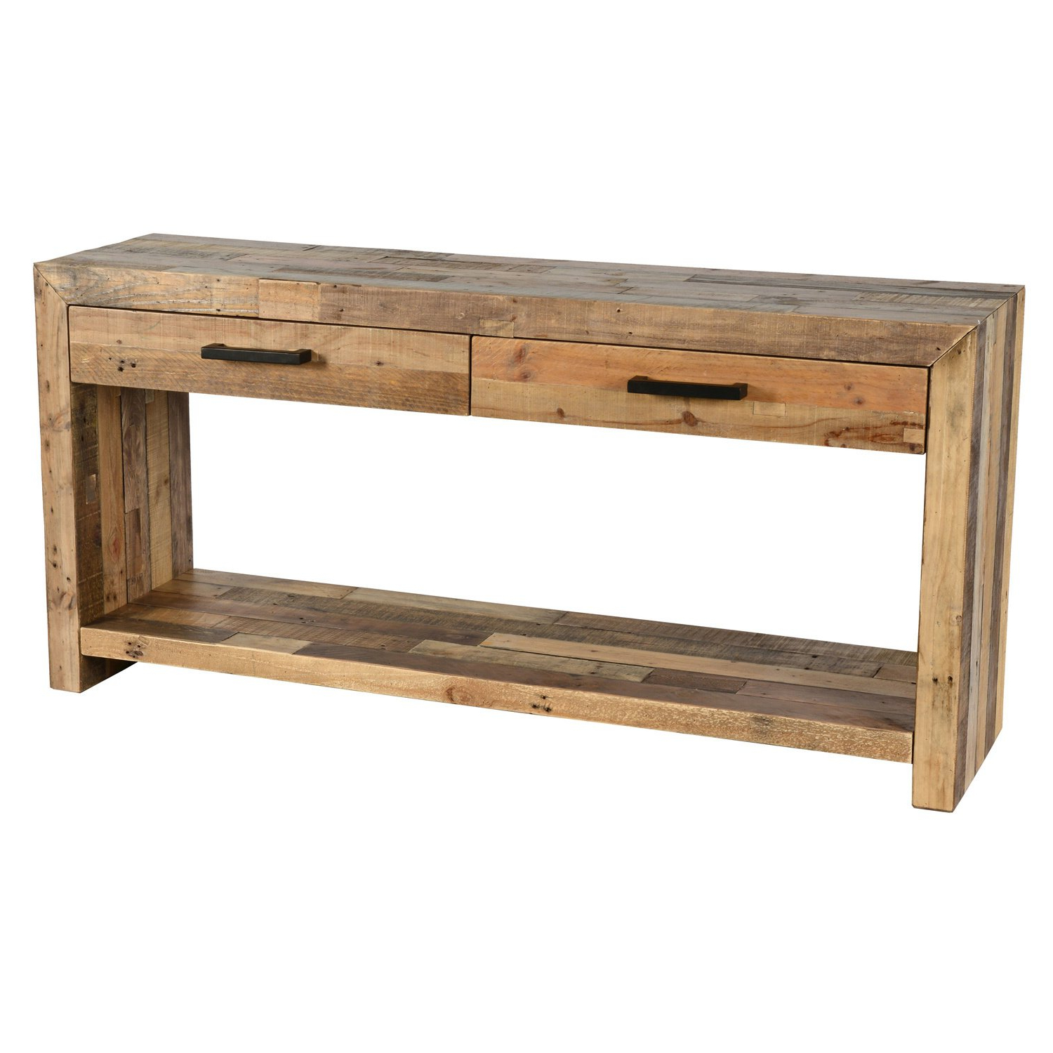 Shop Oscar Grey Reclaimed Wood Console Tablekosas Home – Free In Oscar 60 Inch Console Tables (View 2 of 20)