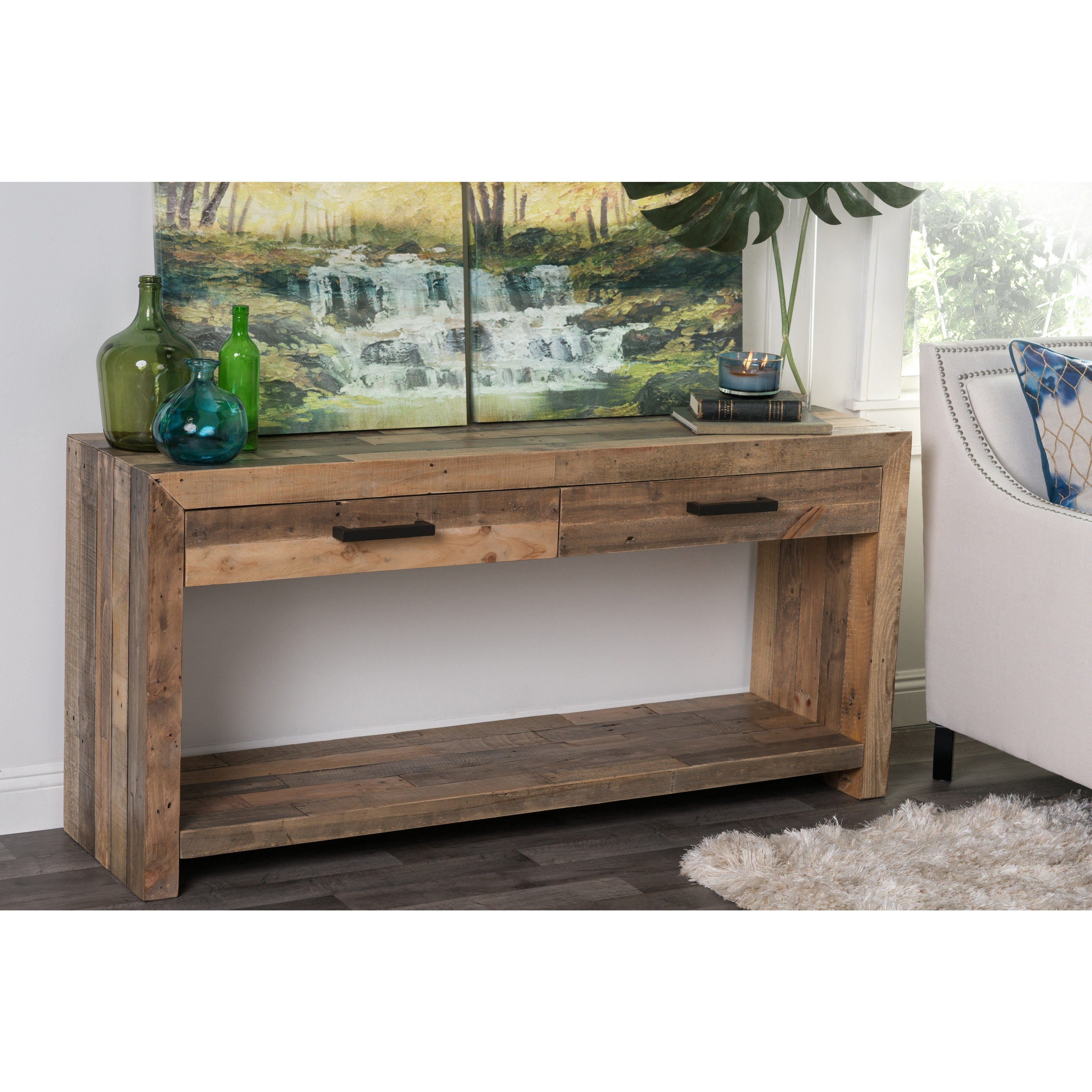 Shop Oscar Natural Reclaimed Wood Console Tablekosas Home – Free Within Oscar 60 Inch Console Tables (View 19 of 20)