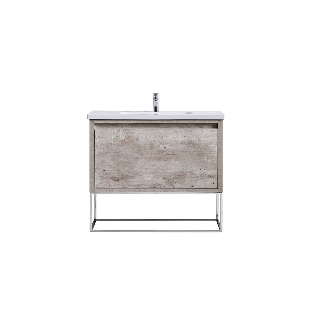 Shop Ove Decors Ava Modern Burnt Oak 40 Inch Vanity With Integrated Throughout Burnt Oak Metal Sideboards (Gallery 3 of 20)