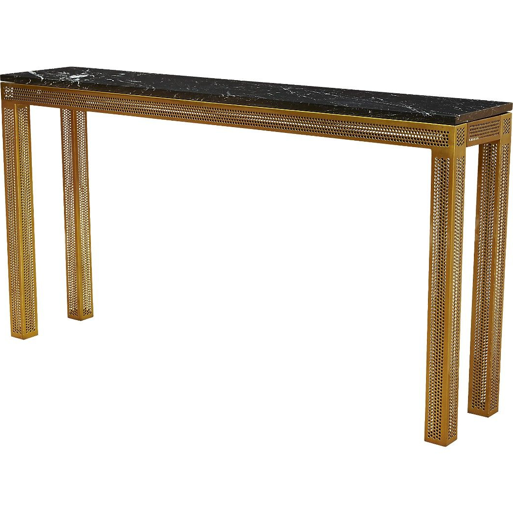 Shop Perforated Marble Console Table (View 3 of 20)