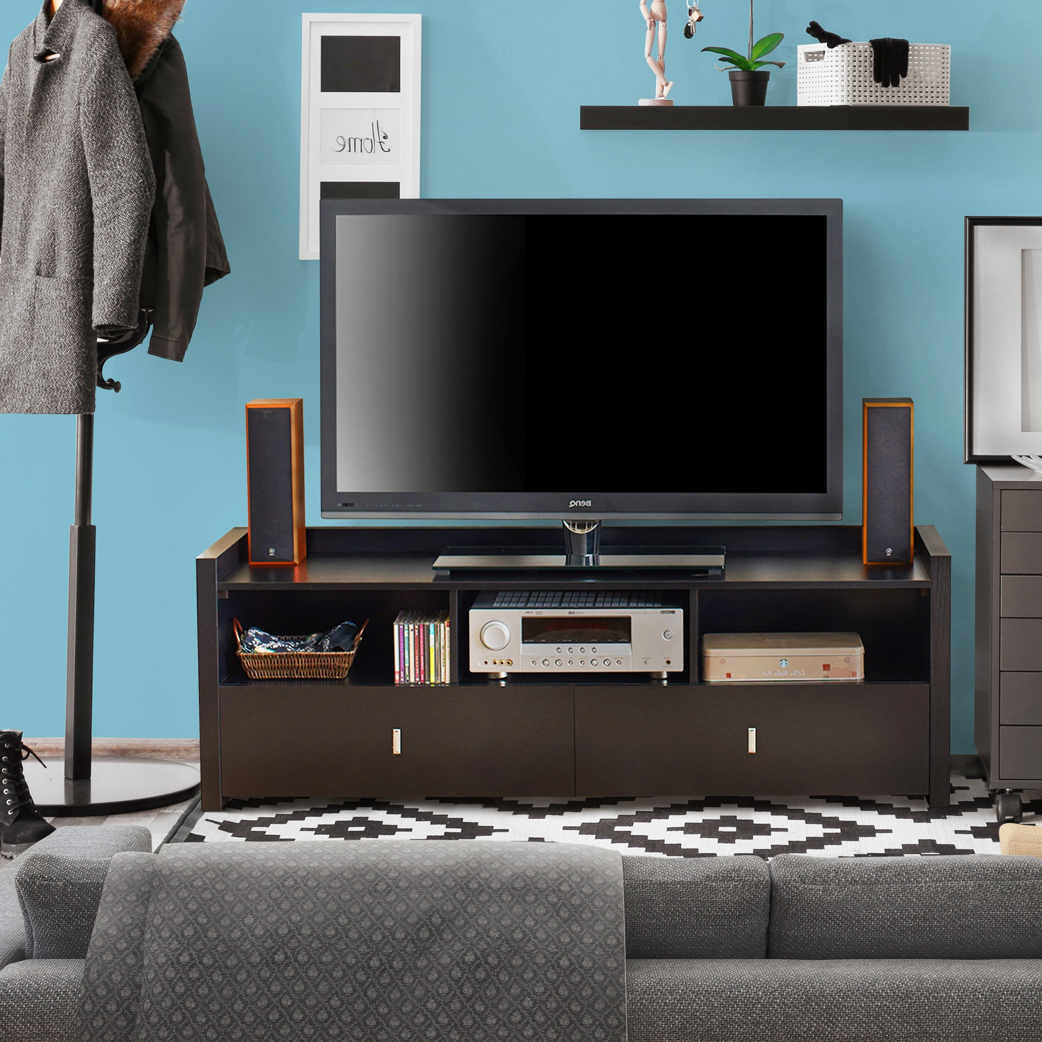 Shop Porch & Den Brickell Entertainment Console – On Sale – Free With Regard To Valencia 70 Inch Tv Stands (View 15 of 20)