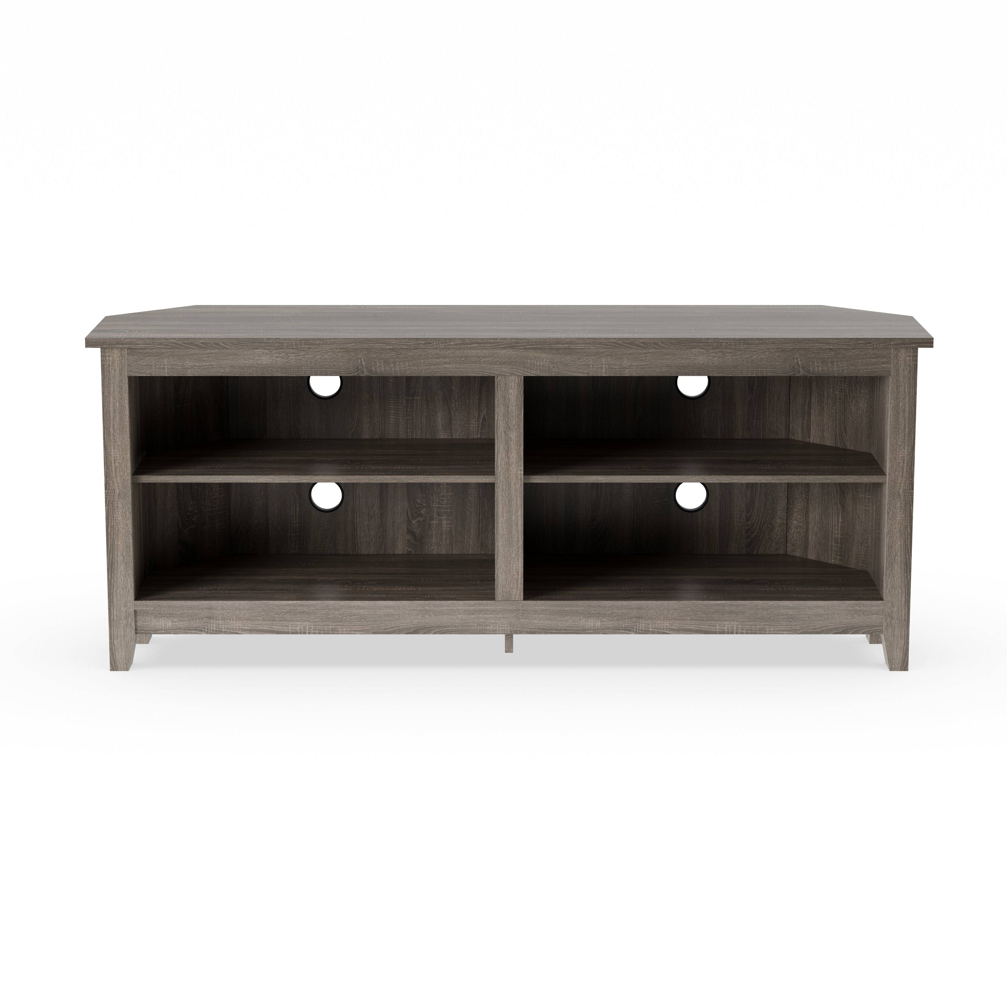 Shop Porch & Den Dexter 58 Inch Driftwood Corner Tv Stand – On Sale With Regard To Century Sky 60 Inch Tv Stands (View 16 of 20)