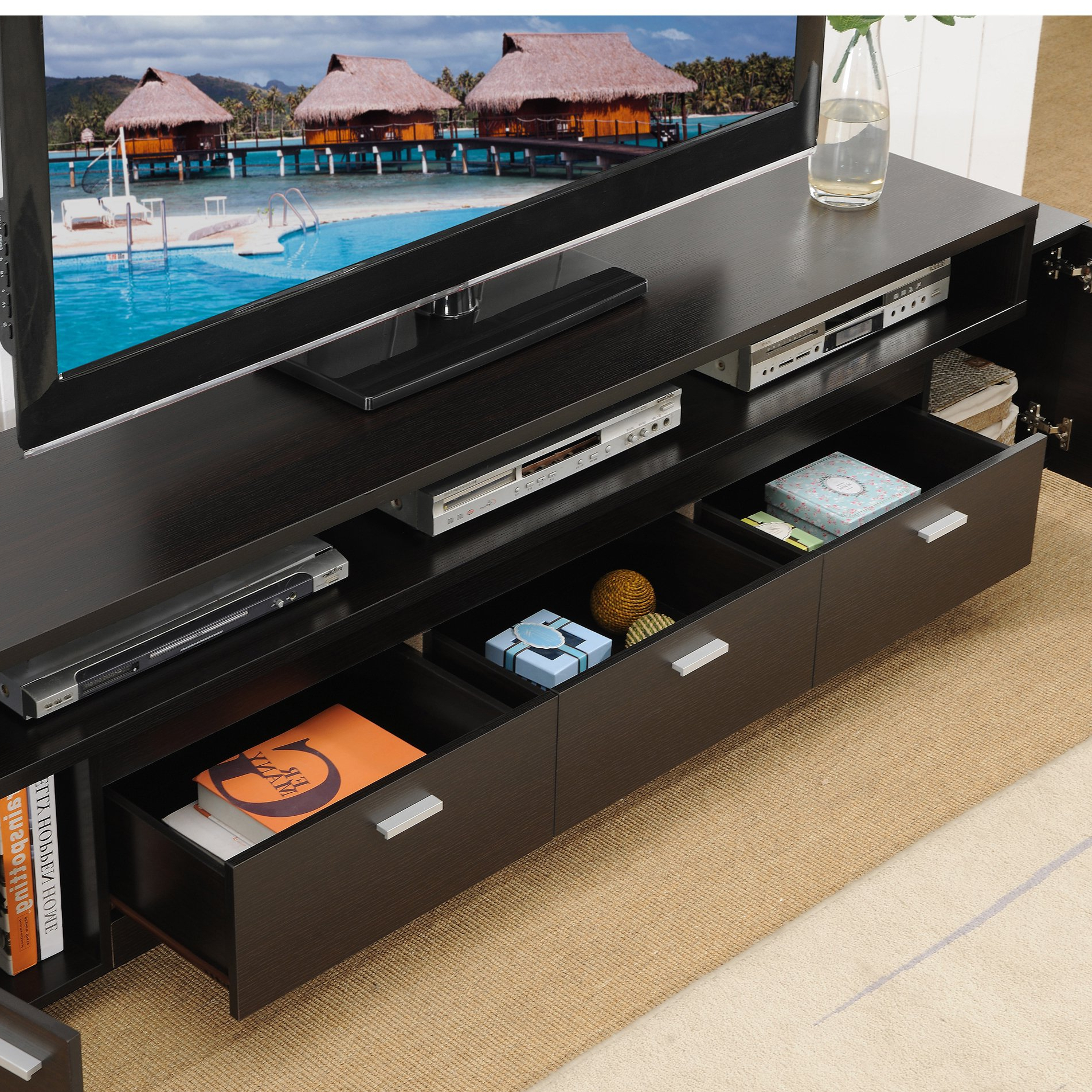 Shop Porch & Den Hubbard 84 Inch Tiered Tv Stand – On Sale – Free With Regard To Ducar 84 Inch Tv Stands (View 18 of 20)