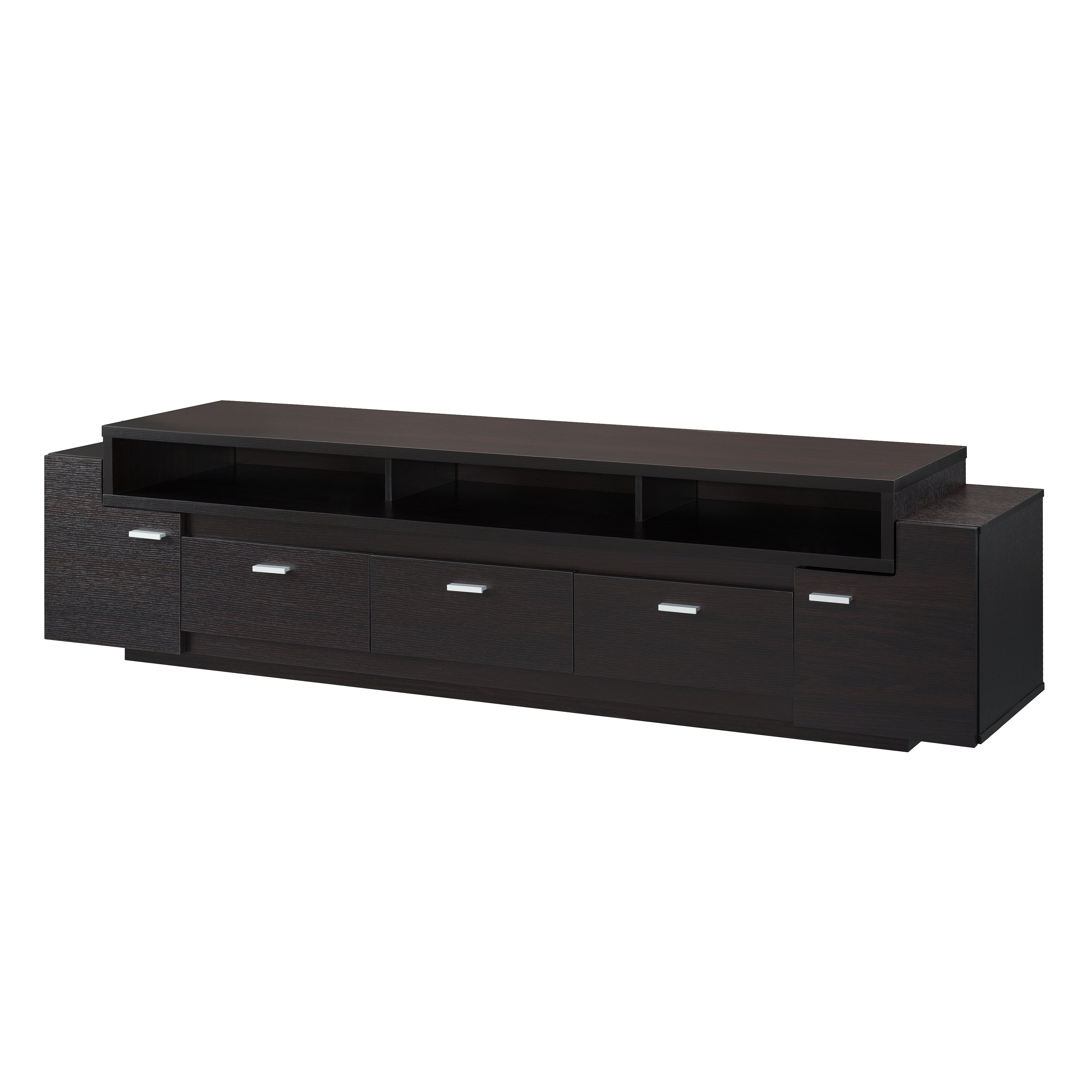 Shop Porch & Den Hubbard 84 Inch Tiered Tv Stand – On Sale – Free Within Ducar 84 Inch Tv Stands (View 11 of 20)