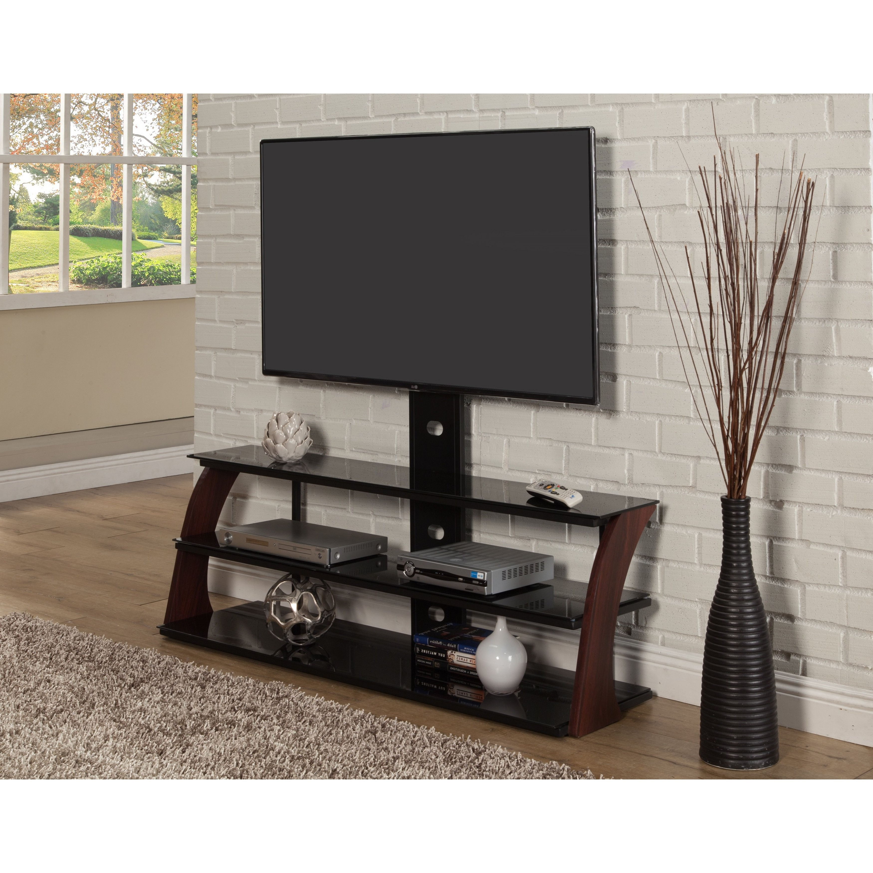 Shop Sandberg Furniture Abigail Black Tv Stand – Free Shipping Today Intended For Walters Media Console Tables (View 6 of 20)