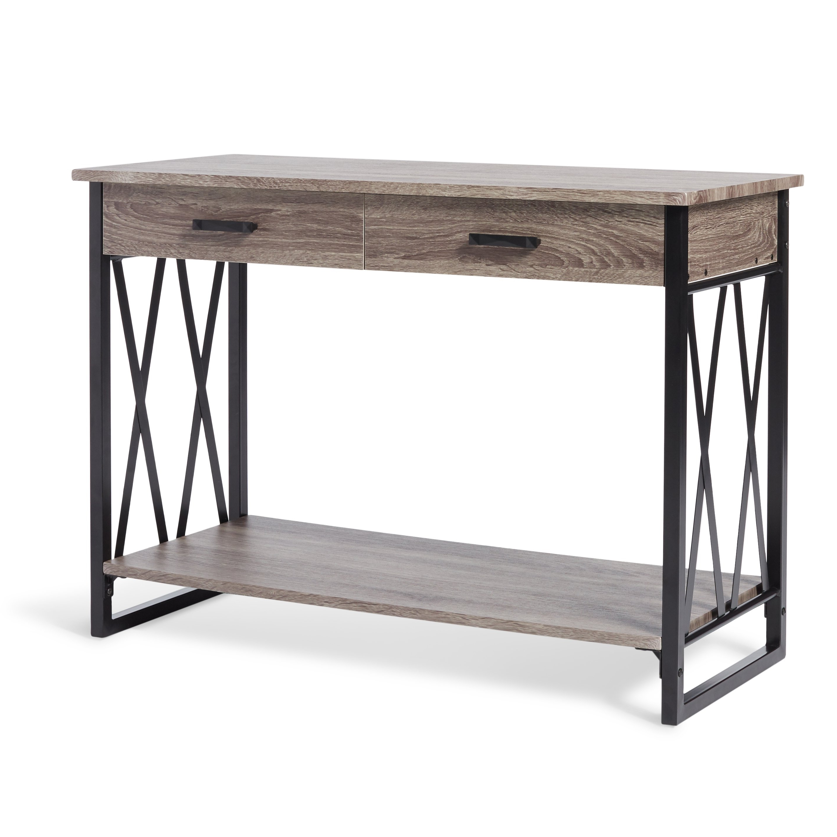 Shop Seneca Reclaimed Finish Sofa Table – Free Shipping Today Intended For Parsons Black Marble Top & Brass Base 48X16 Console Tables (View 16 of 20)