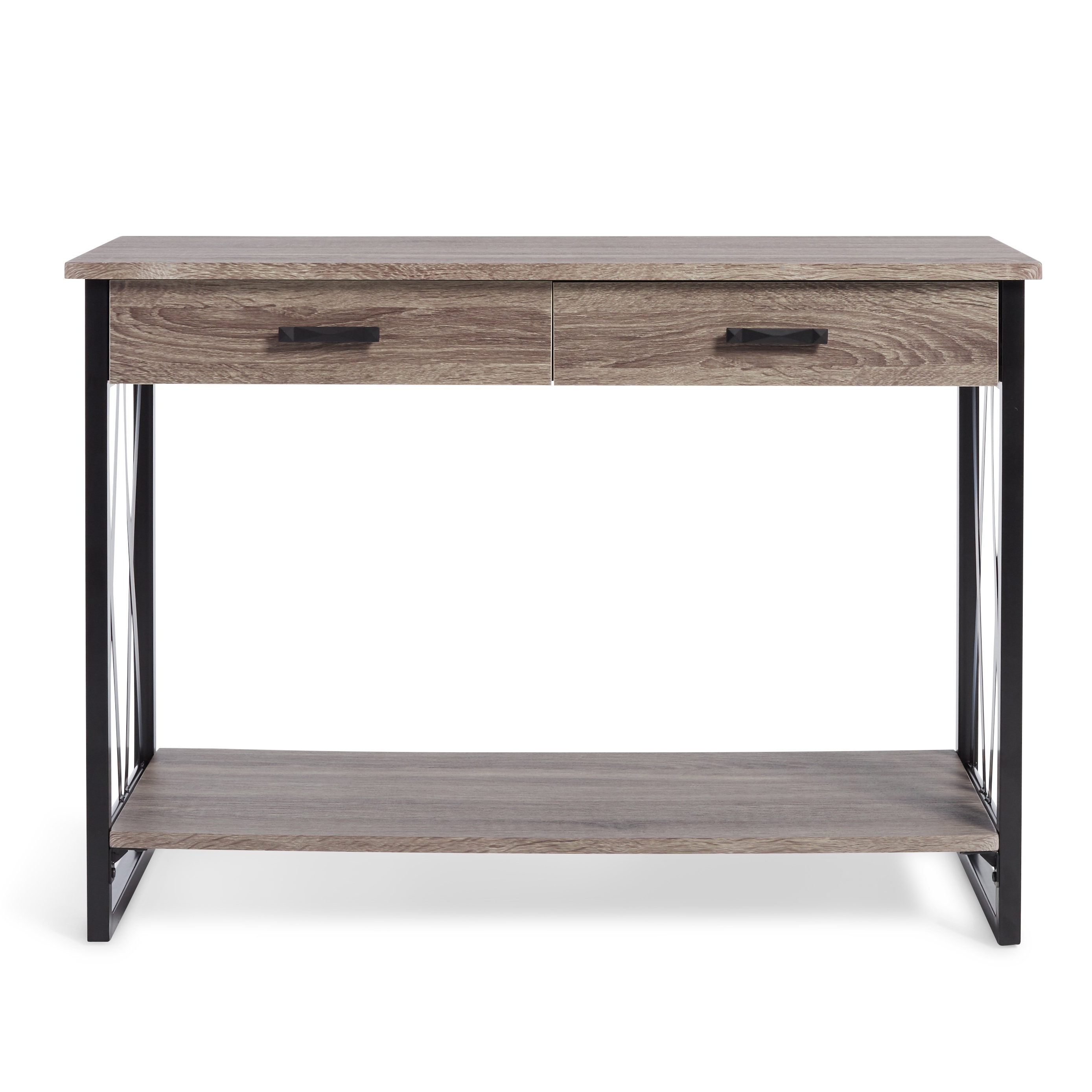 Shop Seneca Reclaimed Finish Sofa Table – Free Shipping Today Regarding Parsons Clear Glass Top & Brass Base 48x16 Console Tables (View 9 of 20)