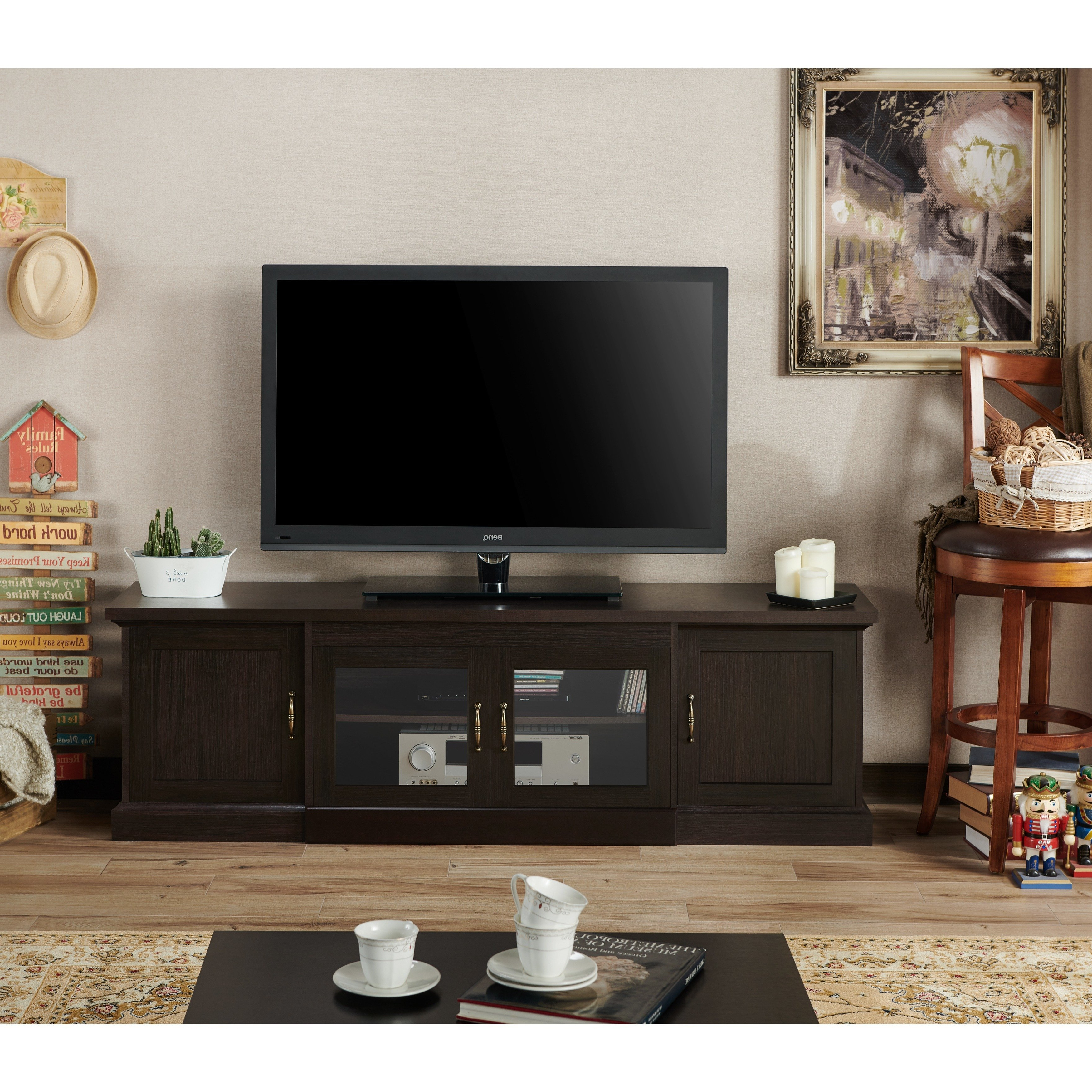Shop Walder Rustic 68 Inch Tv Standfoa – On Sale – Free Shipping Pertaining To Casey Grey 74 Inch Tv Stands (View 11 of 20)