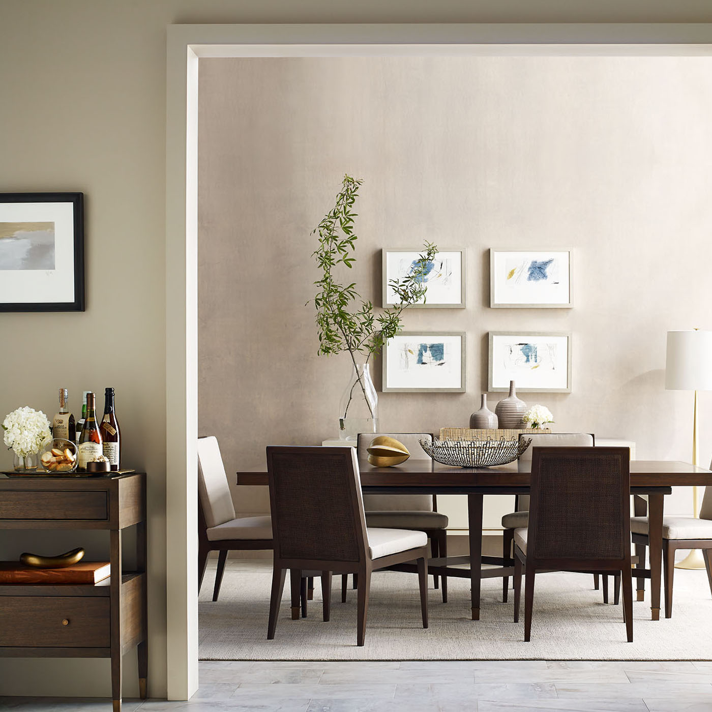 Side Chairs – Modern Dining Room Furniture & Accessories | Baker Regarding Chari Media Center Tables (View 14 of 20)