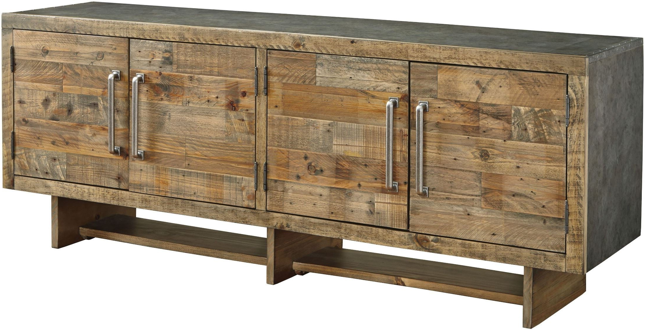 Signature Designashley Mozanburg Brown Extra Large Tv Stand With Regard To Vista 68 Inch Tv Stands (View 18 of 20)