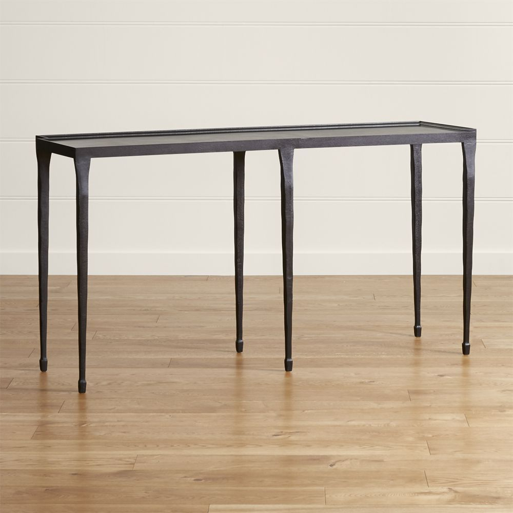"""Silviano 60"""" Iron Console Table 
