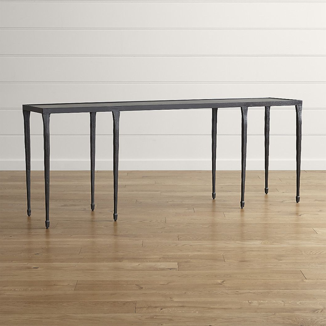 "Silviano 84"" Iron Console Table 