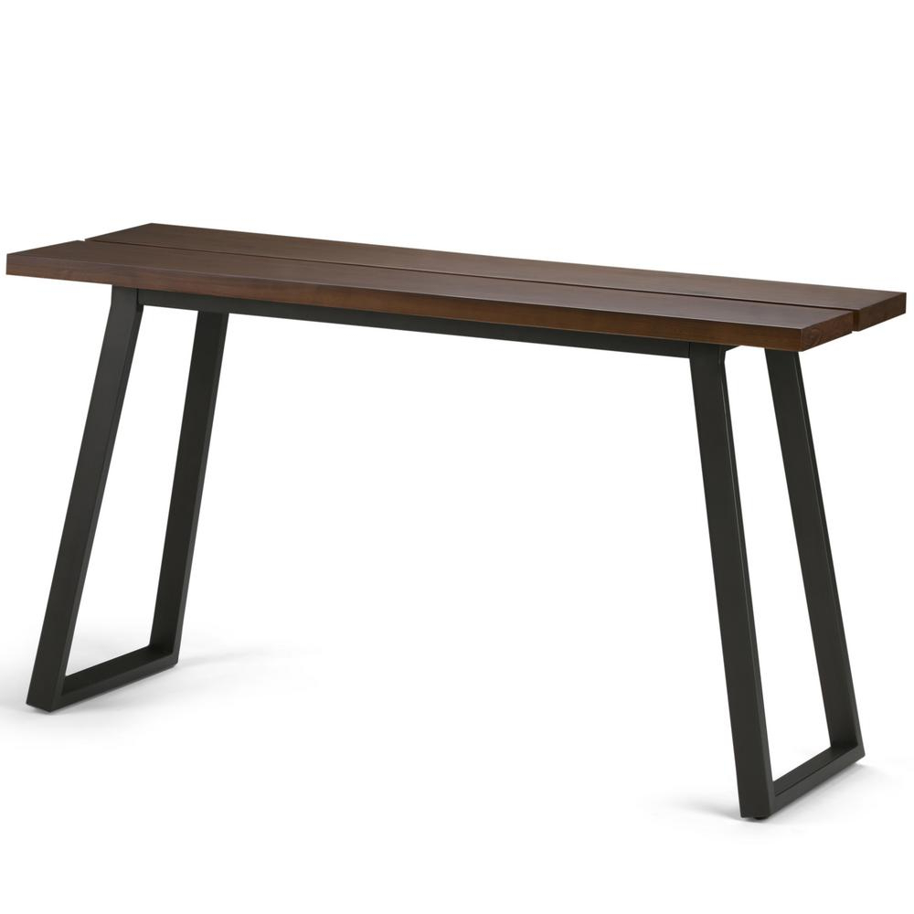 Simpli Home Adler Light Walnut Brown Console Table | Products | Sofa Inside Yukon Grey Console Tables (View 14 of 20)