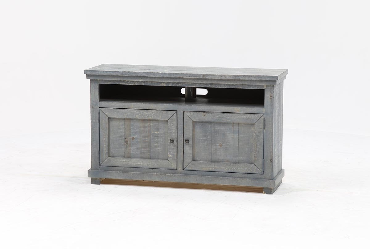 Sinclair Blue 54 Inch Tv Stand | Living Spaces Inside Sinclair Grey 54 Inch Tv Stands (View 16 of 20)