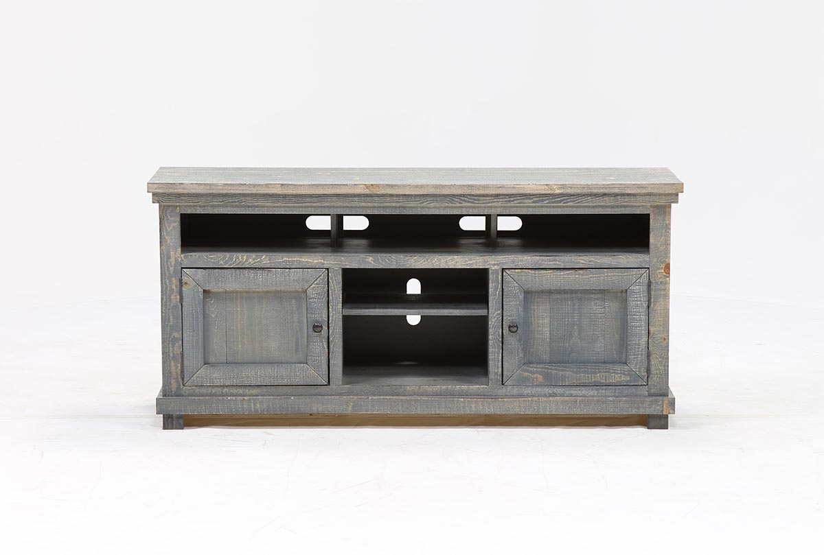 Sinclair Blue 64 Inch Tv Stand | Living Spaces For Sinclair White 64 Inch Tv Stands (View 8 of 20)