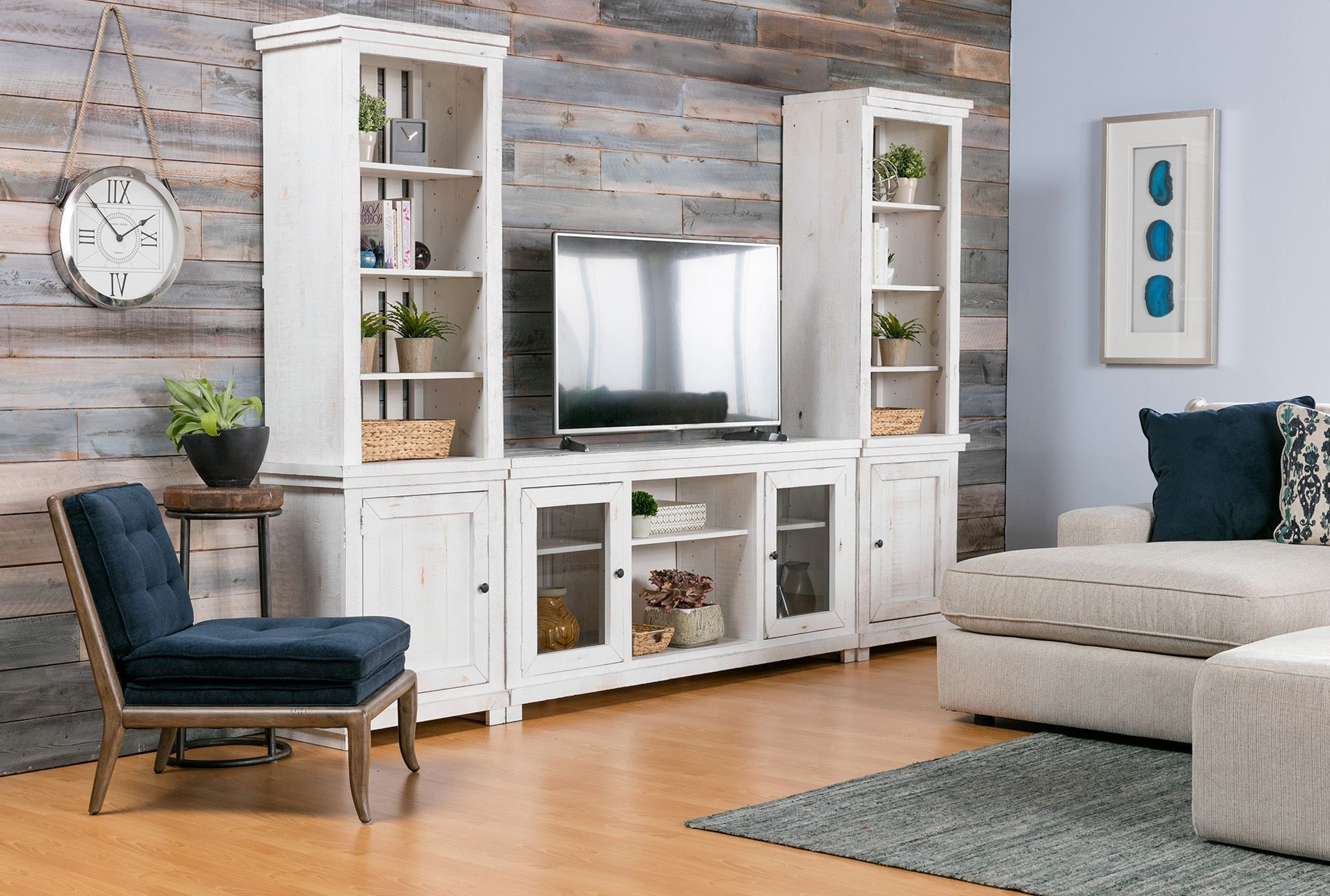 Sinclair White 3 Piece Entertainment Center In 2019 | Products Throughout Sinclair White 68 Inch Tv Stands (View 5 of 20)
