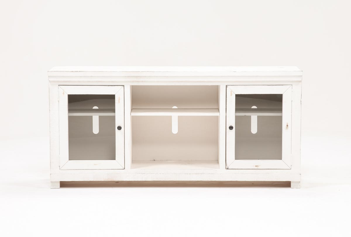 Sinclair White 68 Inch Tv Stand | Living Spaces Regarding Sinclair Grey 64 Inch Tv Stands (View 13 of 20)