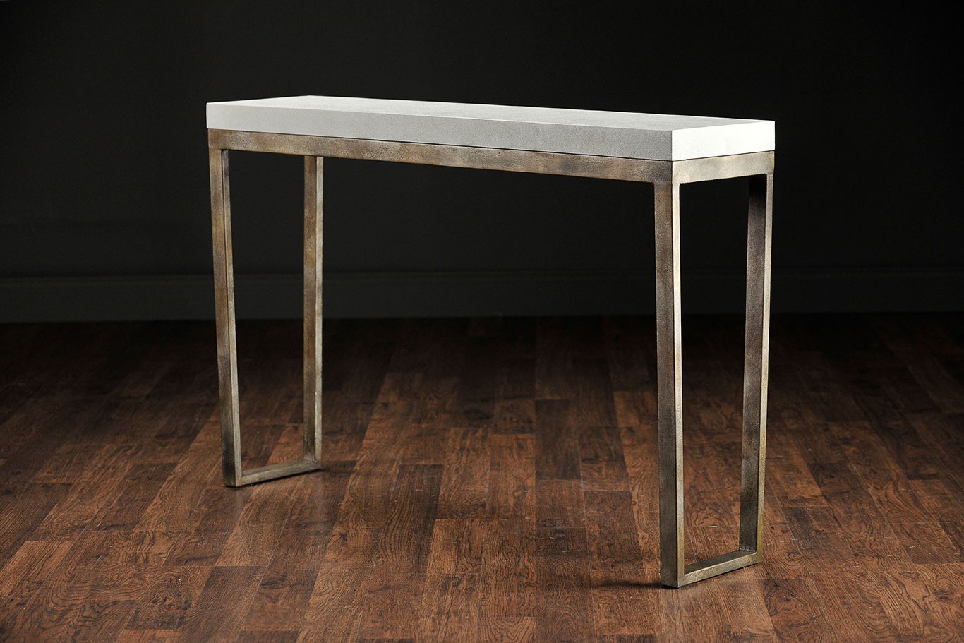 Slim Shagreen Console Table : Console Table – Shagreen Console Table For Faux Shagreen Console Tables (Gallery 6 of 20)