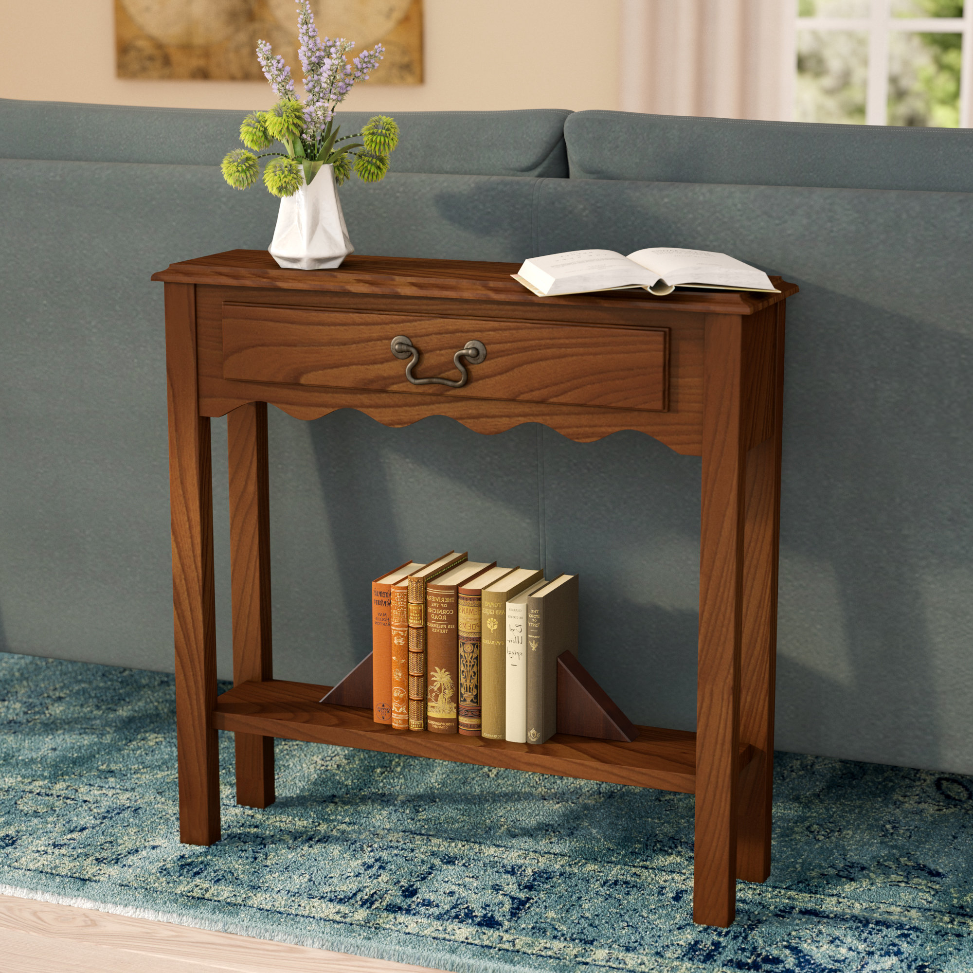 Small Corner Console Table | Wayfair In Layered Wood Small Square Console Tables (View 4 of 20)