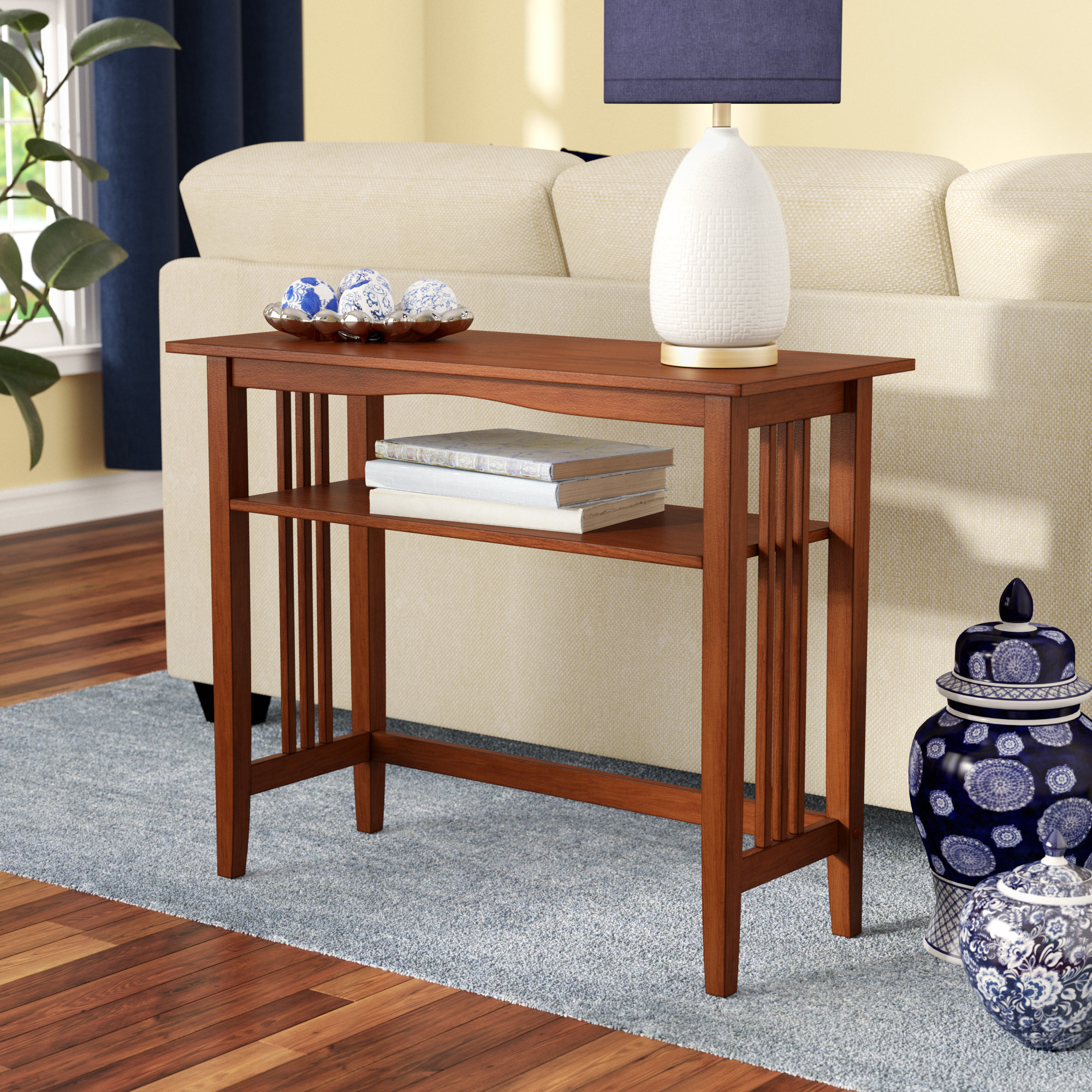 Small Corner Console Table | Wayfair Regarding Layered Wood Small Square Console Tables (View 7 of 20)