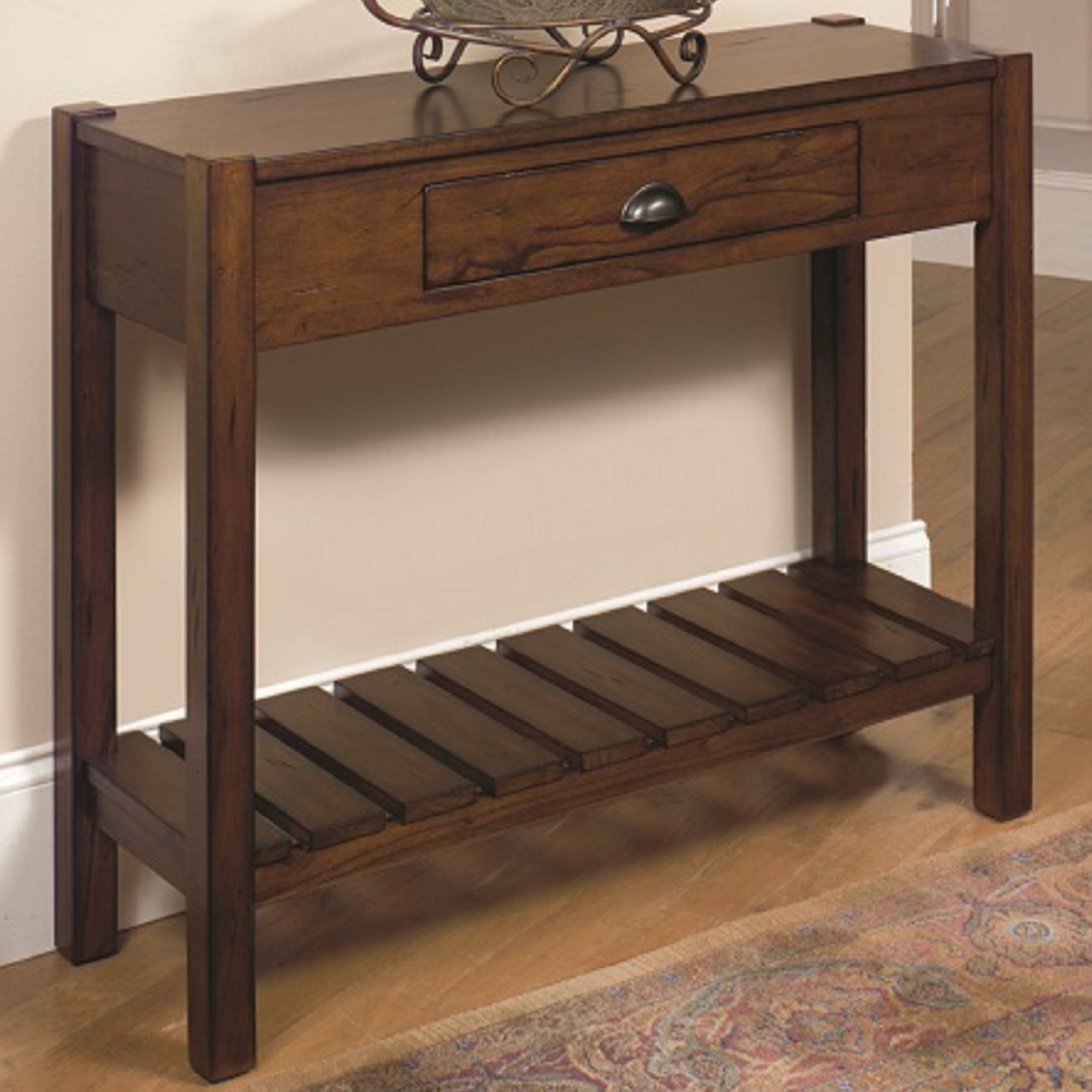 Small Corner Console Table | Wayfair Throughout Layered Wood Small Square Console Tables (View 2 of 20)