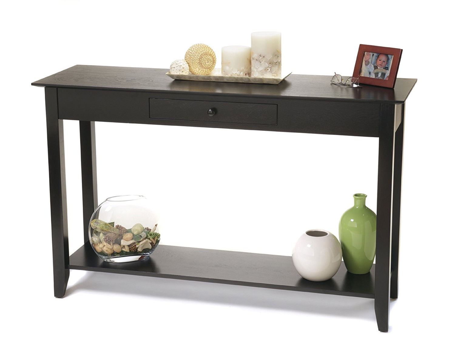 Sofa Table: Amusing Black Sofa Table Ikea Ideas Ikea White Sofa For Parsons Clear Glass Top & Brass Base 48x16 Console Tables (View 14 of 20)
