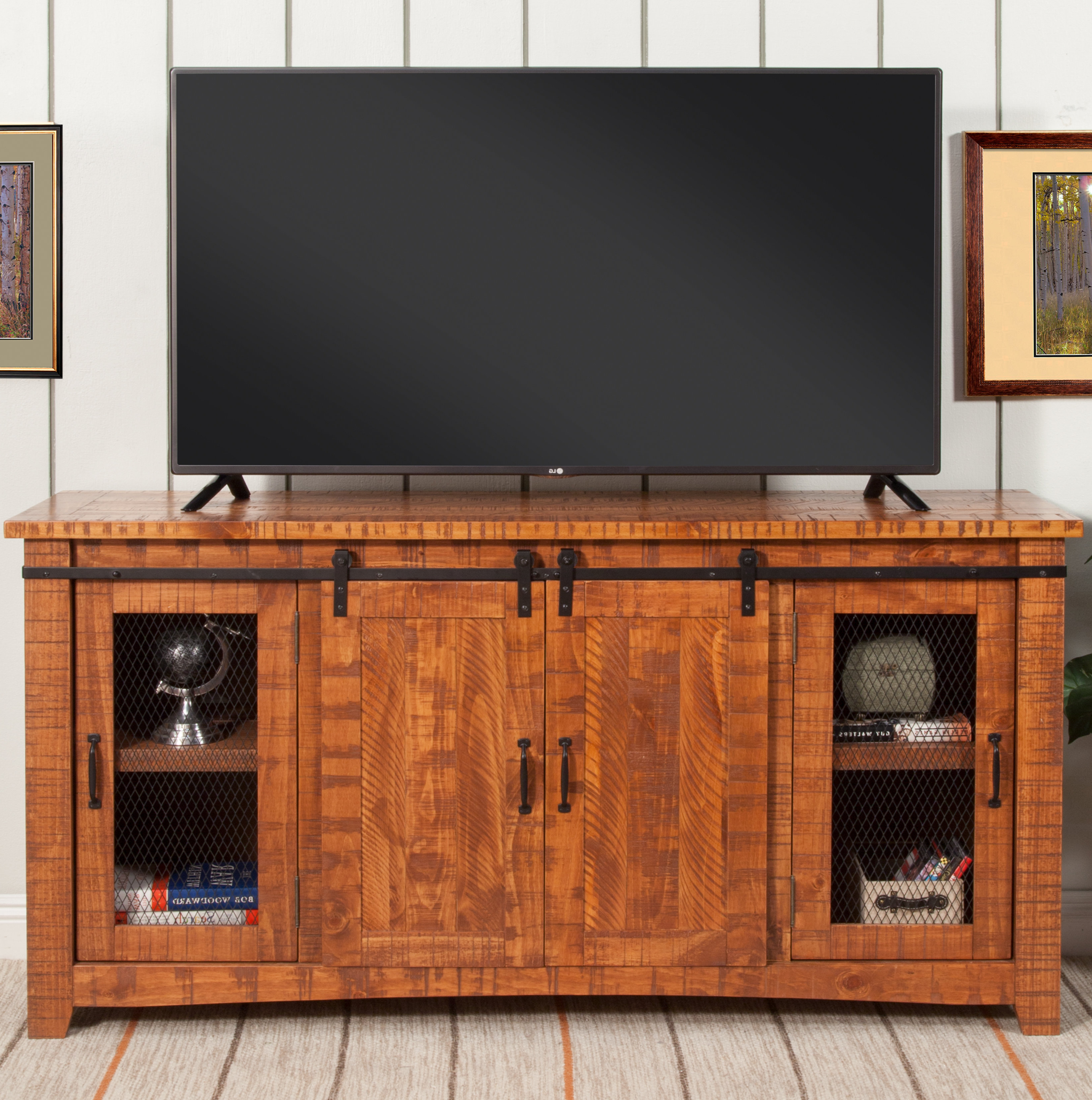 Solid Wood Tv Stands & Entertainment Centers You'll Love | Wayfair For Walters Media Console Tables (View 17 of 20)