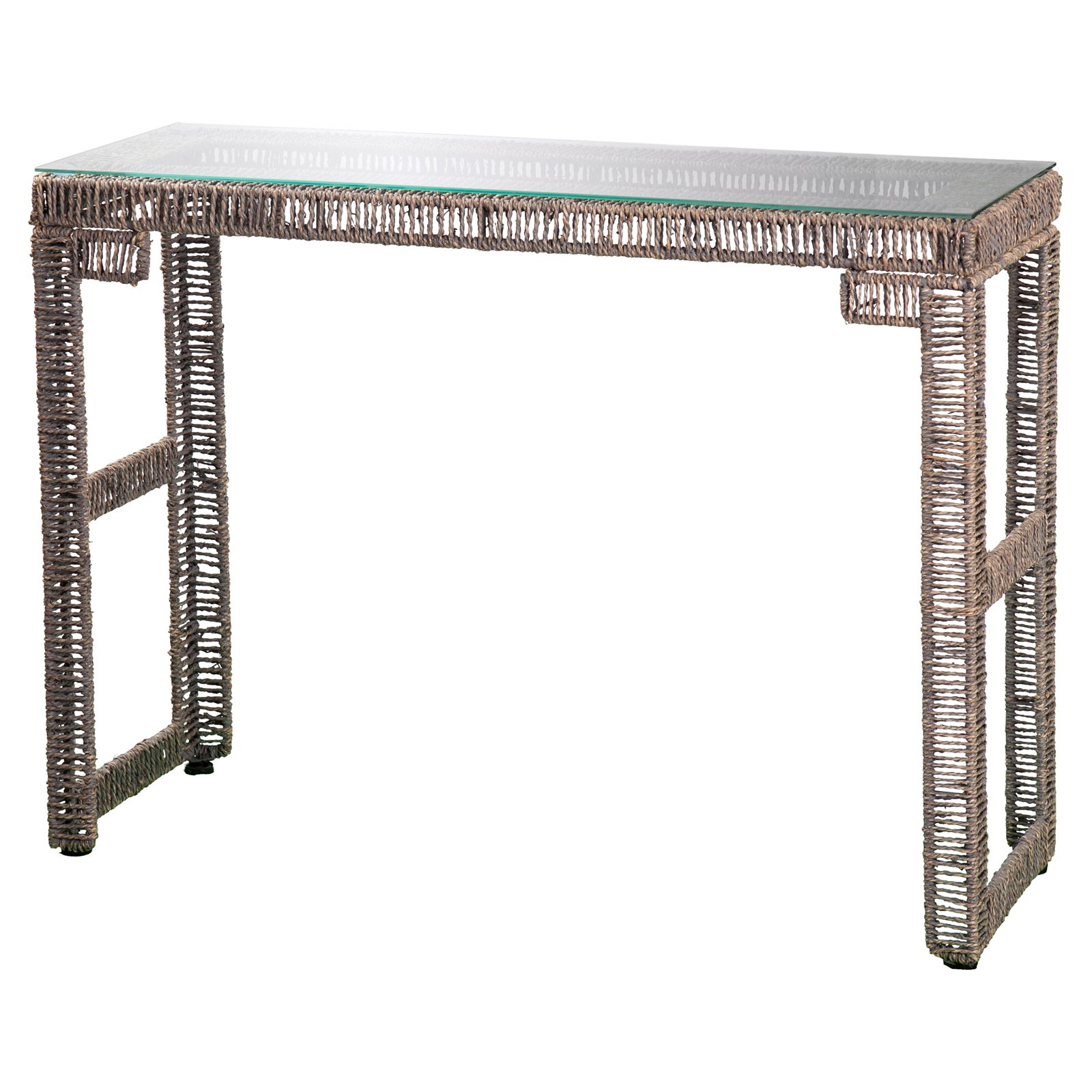 Southern Enterprises Akola Woven Console Table – Walmart In Intarsia Console Tables (View 15 of 20)