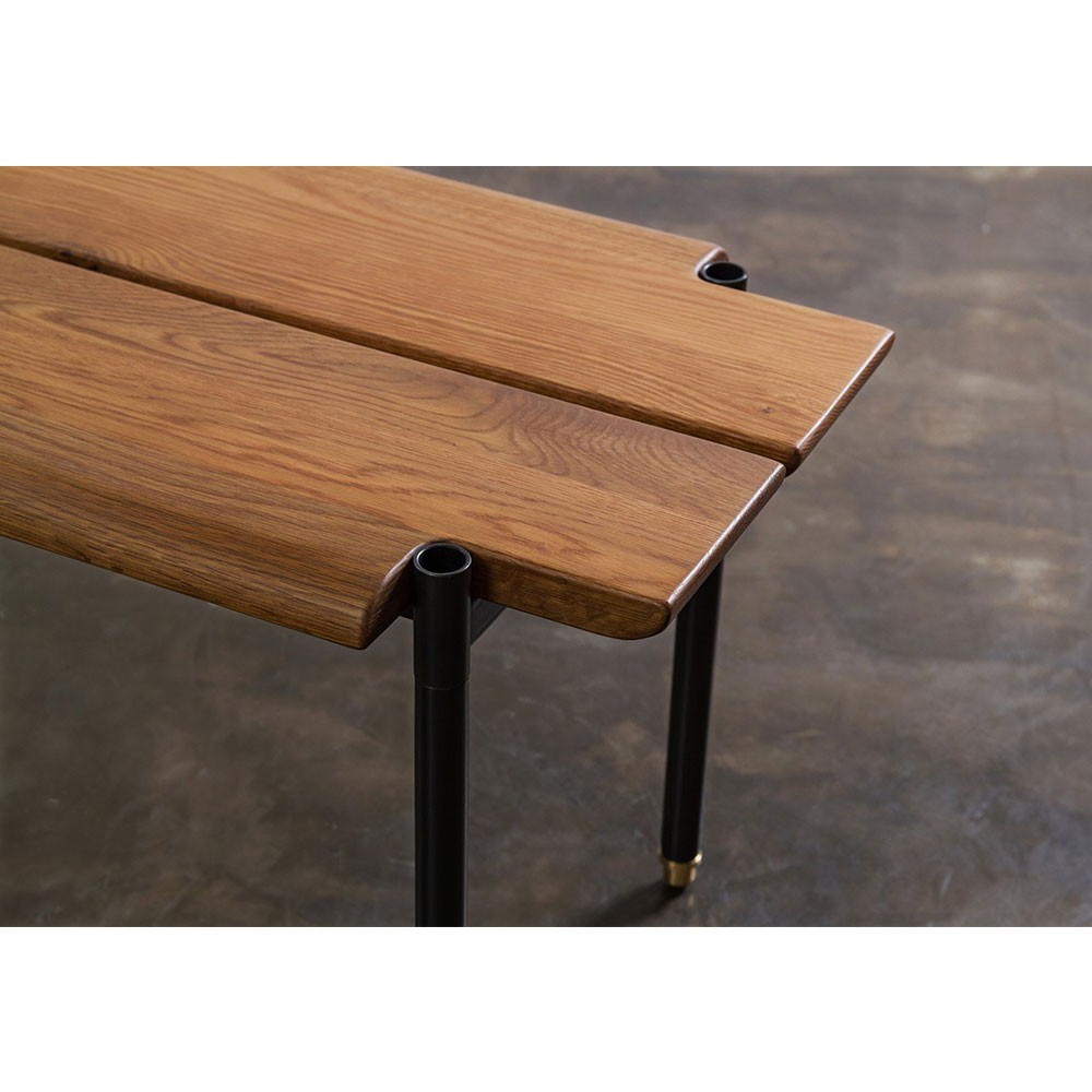 Stacking Bench – Fumed Oak | Nuevo District Eight Hgda566 Inside Oak & Brass Stacking Media Console Tables (View 15 of 20)