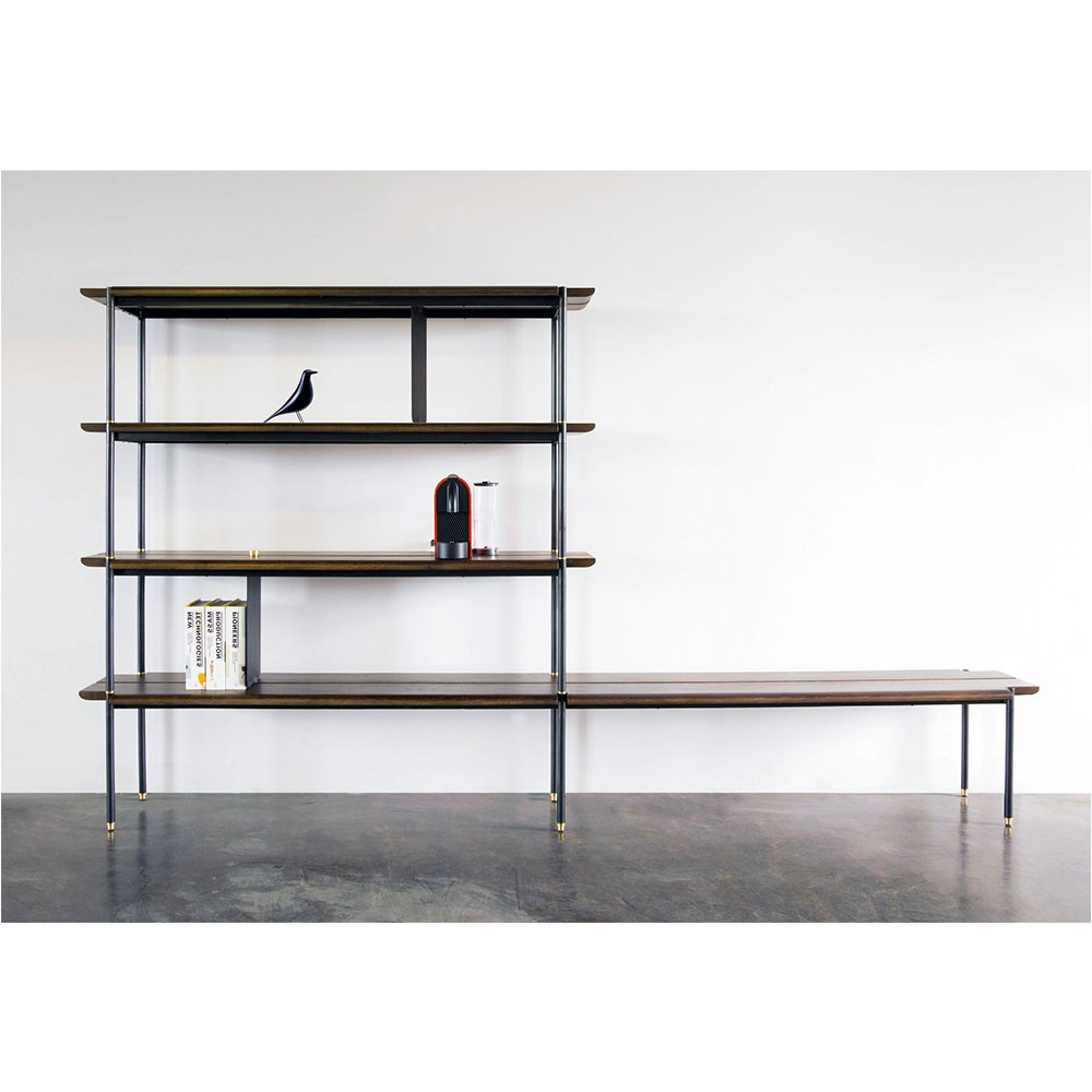 Stacking Bench – Fumed Oak | Nuevo District Eight Hgda609 For Oak & Brass Stacking Media Console Tables (View 3 of 20)