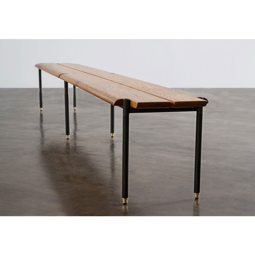 Stacking Bench – Fumed Oak | Nuevo District Eight Hgda609 For Oak & Brass Stacking Media Console Tables (Gallery 2 of 20)