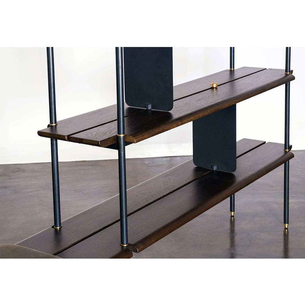 Stacking Bench – Smoked Oak | Nuevo District Eight Hgda567 For Oak & Brass Stacking Media Console Tables (View 14 of 20)