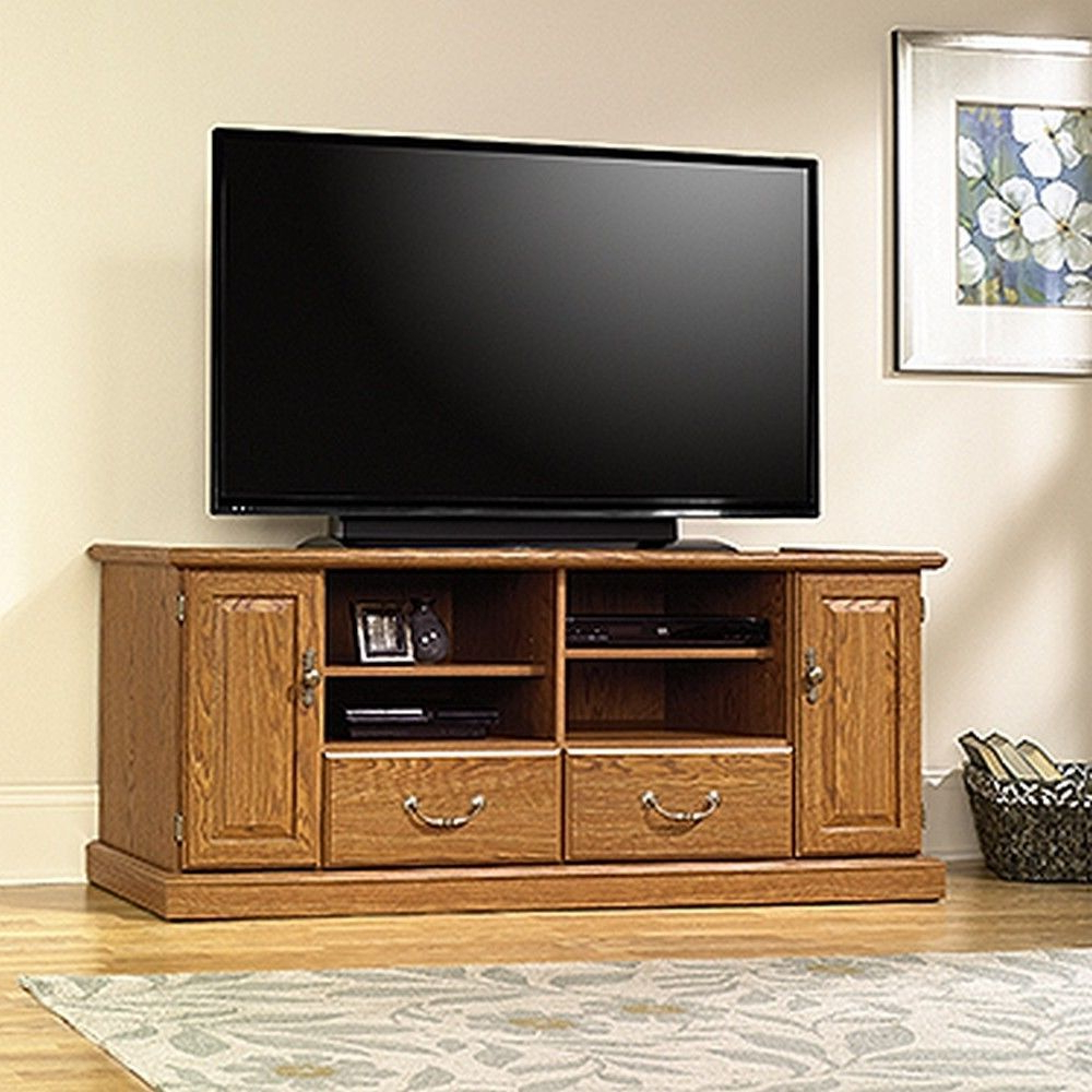 Stek Shop: Sauder 401346 Orchard Hills Entertainment Credenza Intended For Kilian Black 60 Inch Tv Stands (View 9 of 20)