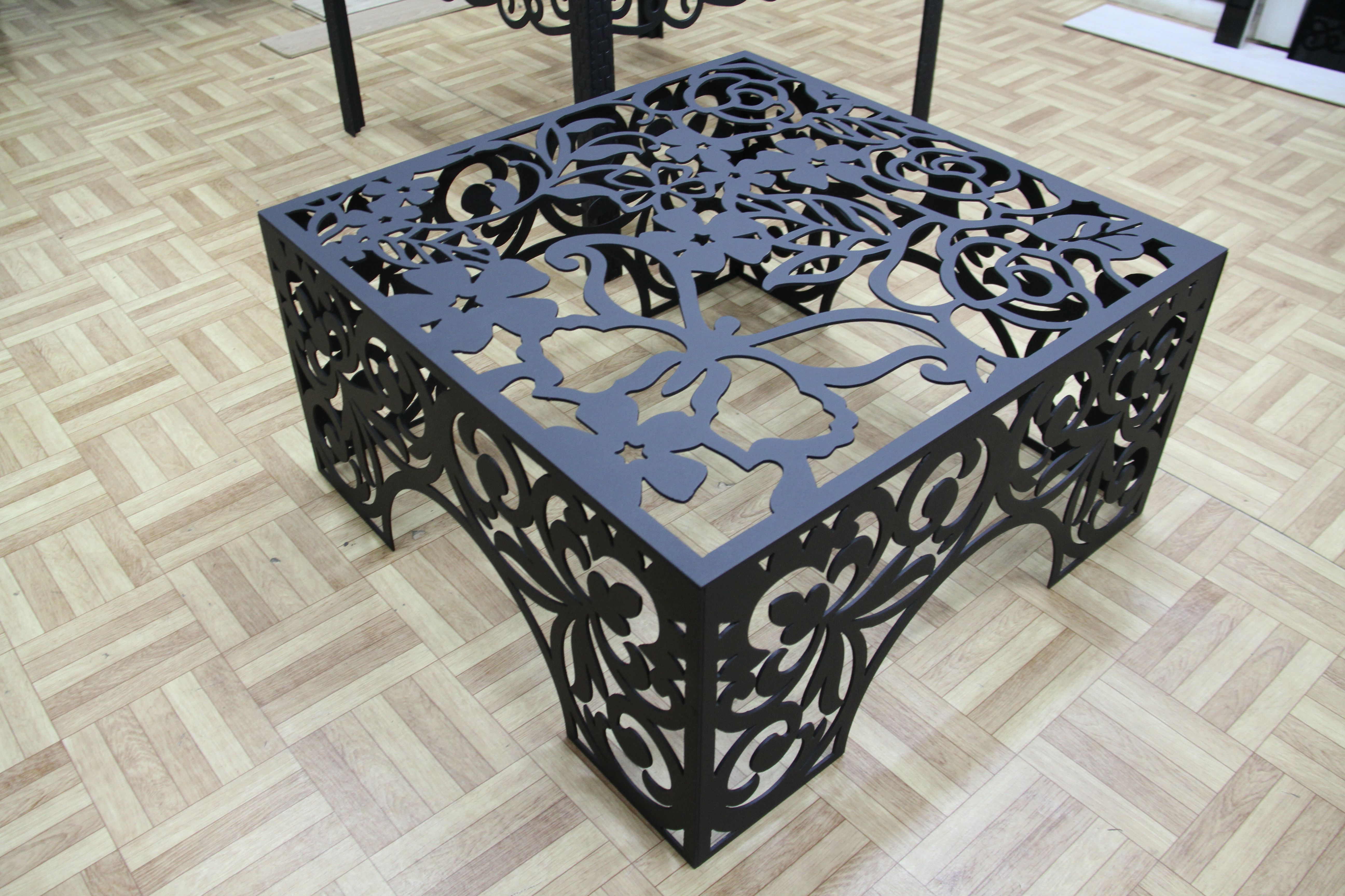 Stolik 700h350h3mm | Oyma Sanati | Pinterest | Metal, Plasma Cutting With Natural 2 Door Plasma Console Tables (View 6 of 20)