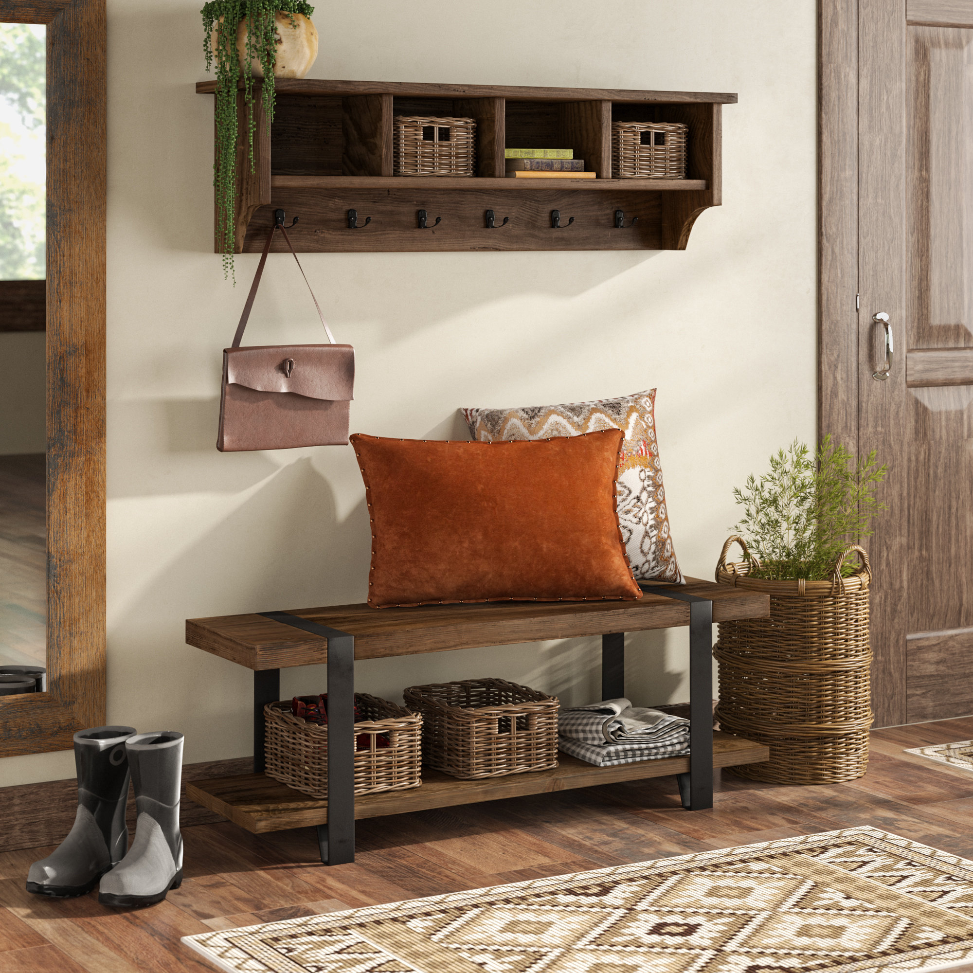 Storage Benches Pertaining To Scattered Geo Console Tables (View 14 of 20)