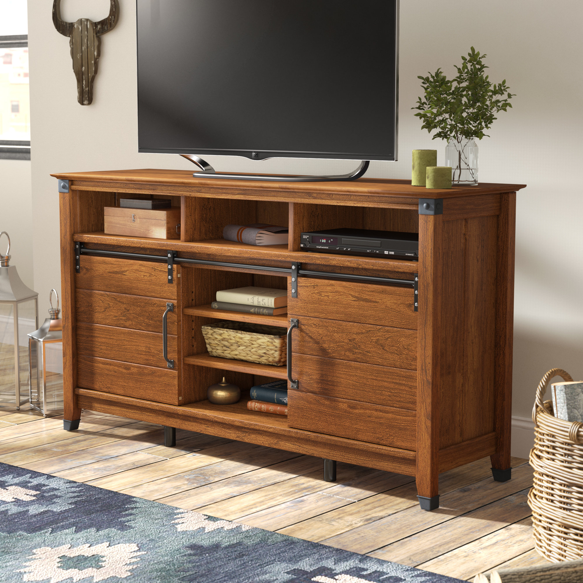 Tall (33 Inches And Larger) Tv Stands | Birch Lane For Edwin Black 64 Inch Tv Stands (View 13 of 20)