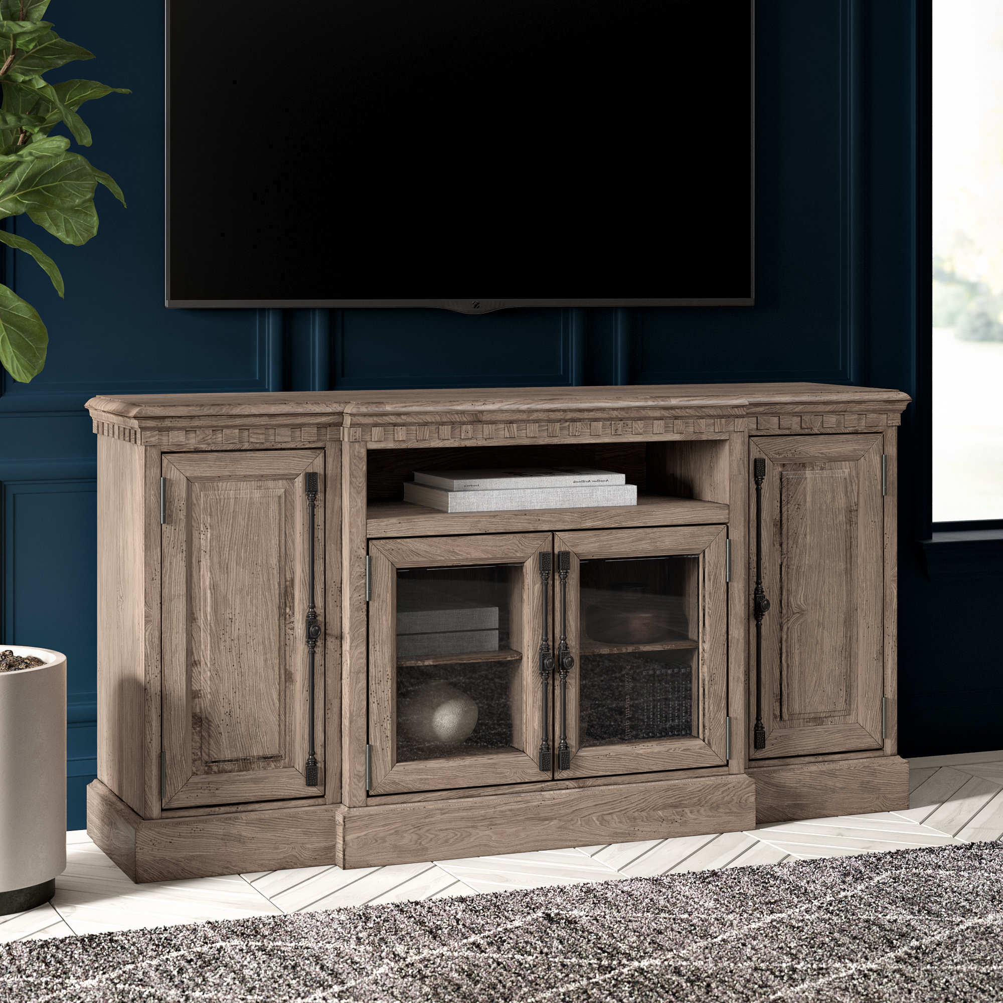 Tall Tv Stands You'll Love | Wayfair For Edwin Black 64 Inch Tv Stands (View 11 of 20)