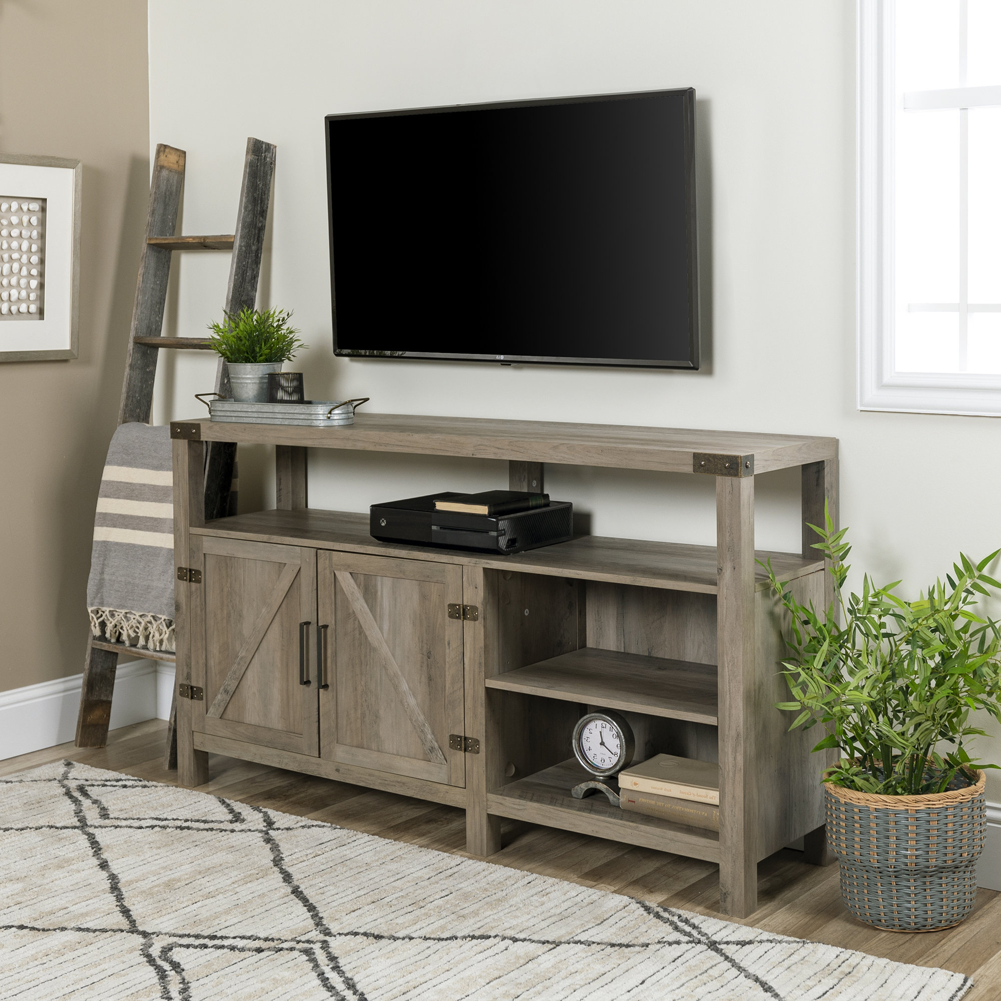 Tall Tv Stands You'll Love | Wayfair Pertaining To Edwin Grey 64 Inch Tv Stands (Gallery 9 of 20)