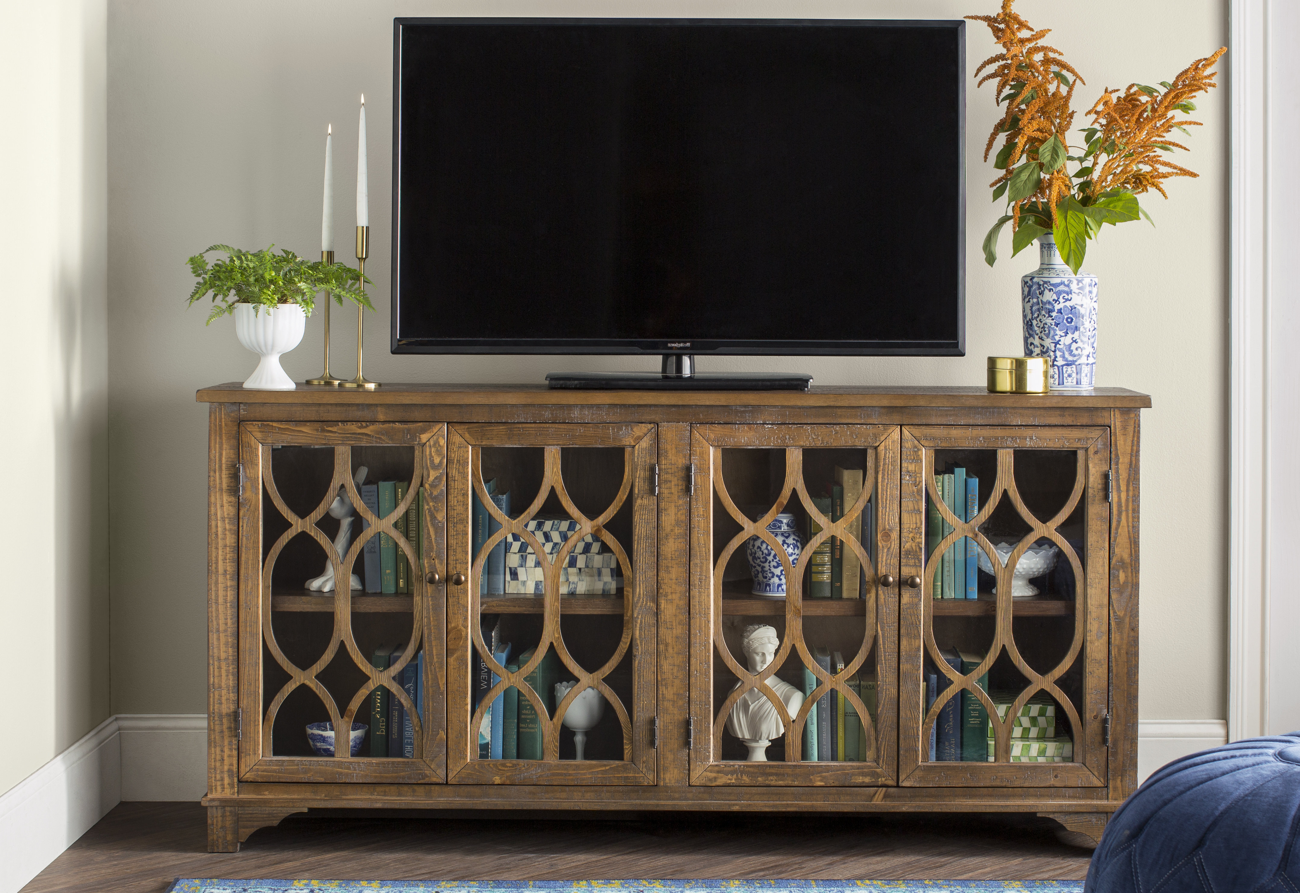 Tall Tv Stands You'll Love | Wayfair Throughout Edwin Black 64 Inch Tv Stands (View 12 of 20)