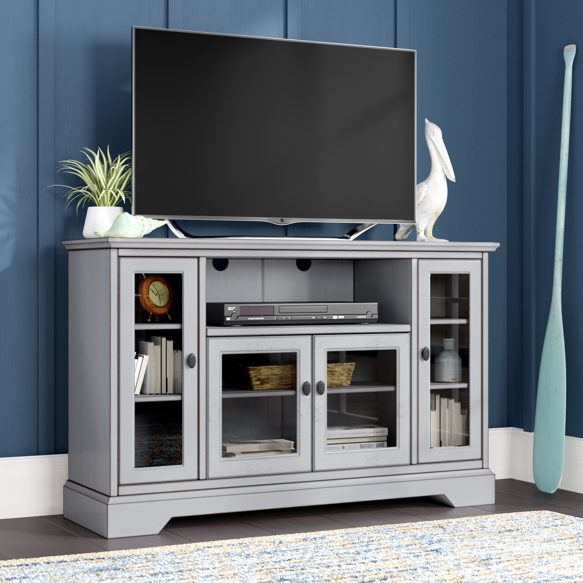 Tall Tv Stands You'll Love | Wayfair Throughout Edwin Black 64 Inch Tv Stands (View 7 of 20)