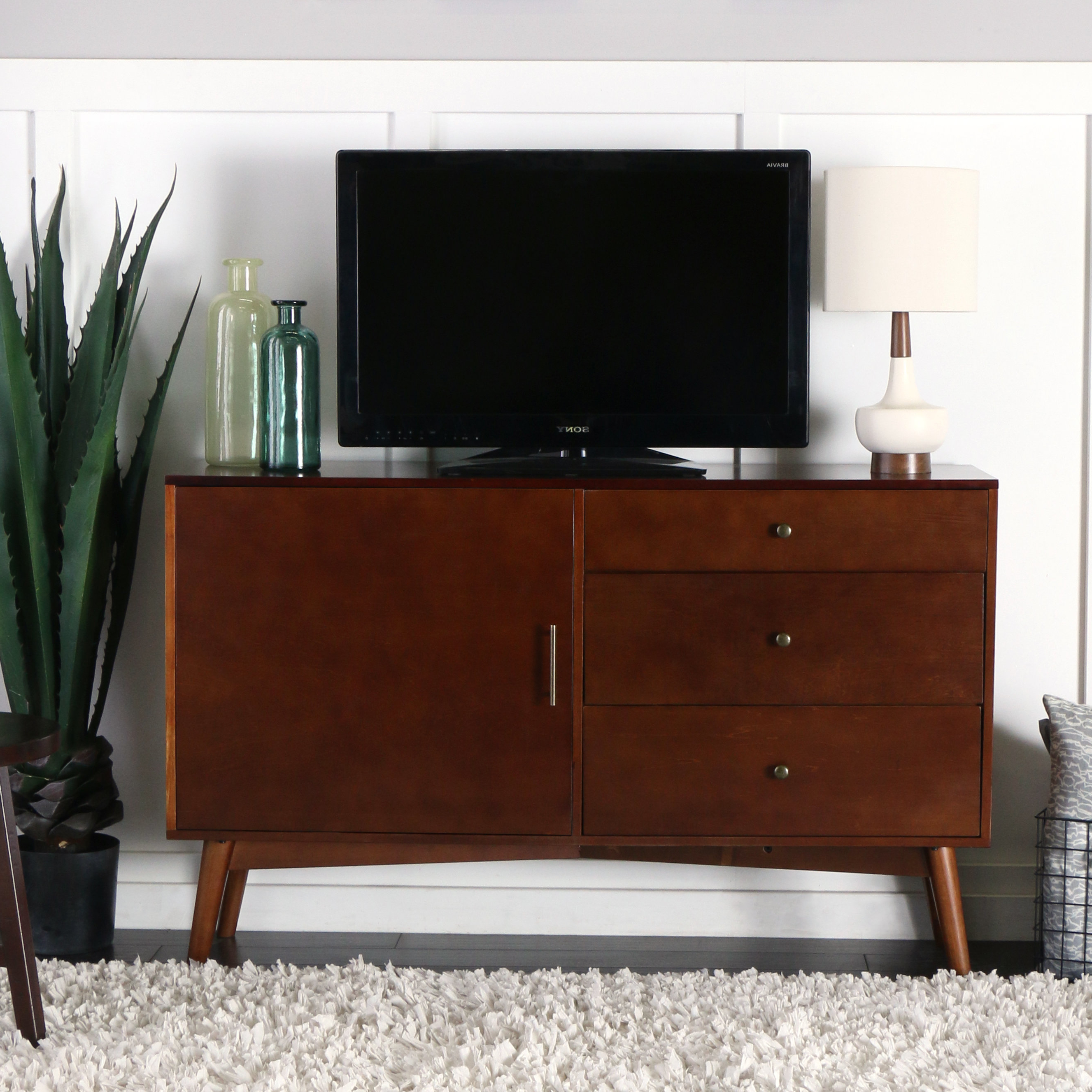 Tall Tv Stands You'll Love | Wayfair With Edwin Black 64 Inch Tv Stands (View 11 of 20)