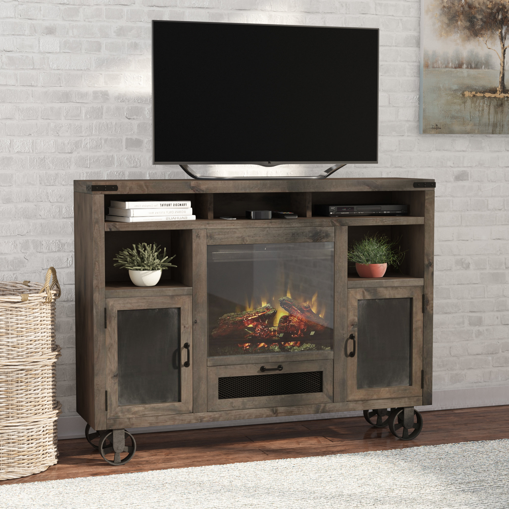 Tall Tv Stands You'll Love | Wayfair Within Edwin Black 64 Inch Tv Stands (View 19 of 20)
