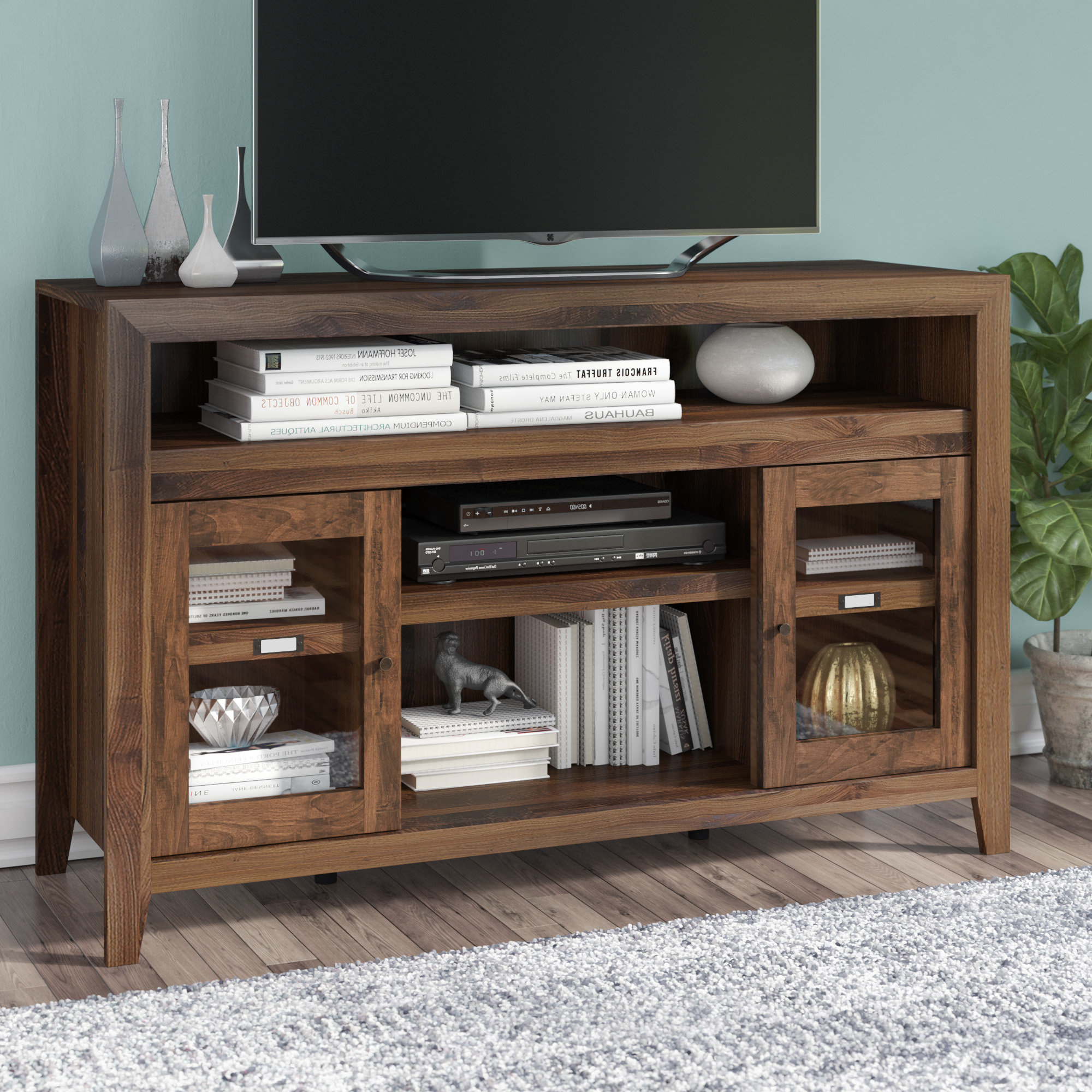 Tall Tv Stands You'll Love | Wayfair Within Edwin Grey 64 Inch Tv Stands (Gallery 14 of 20)