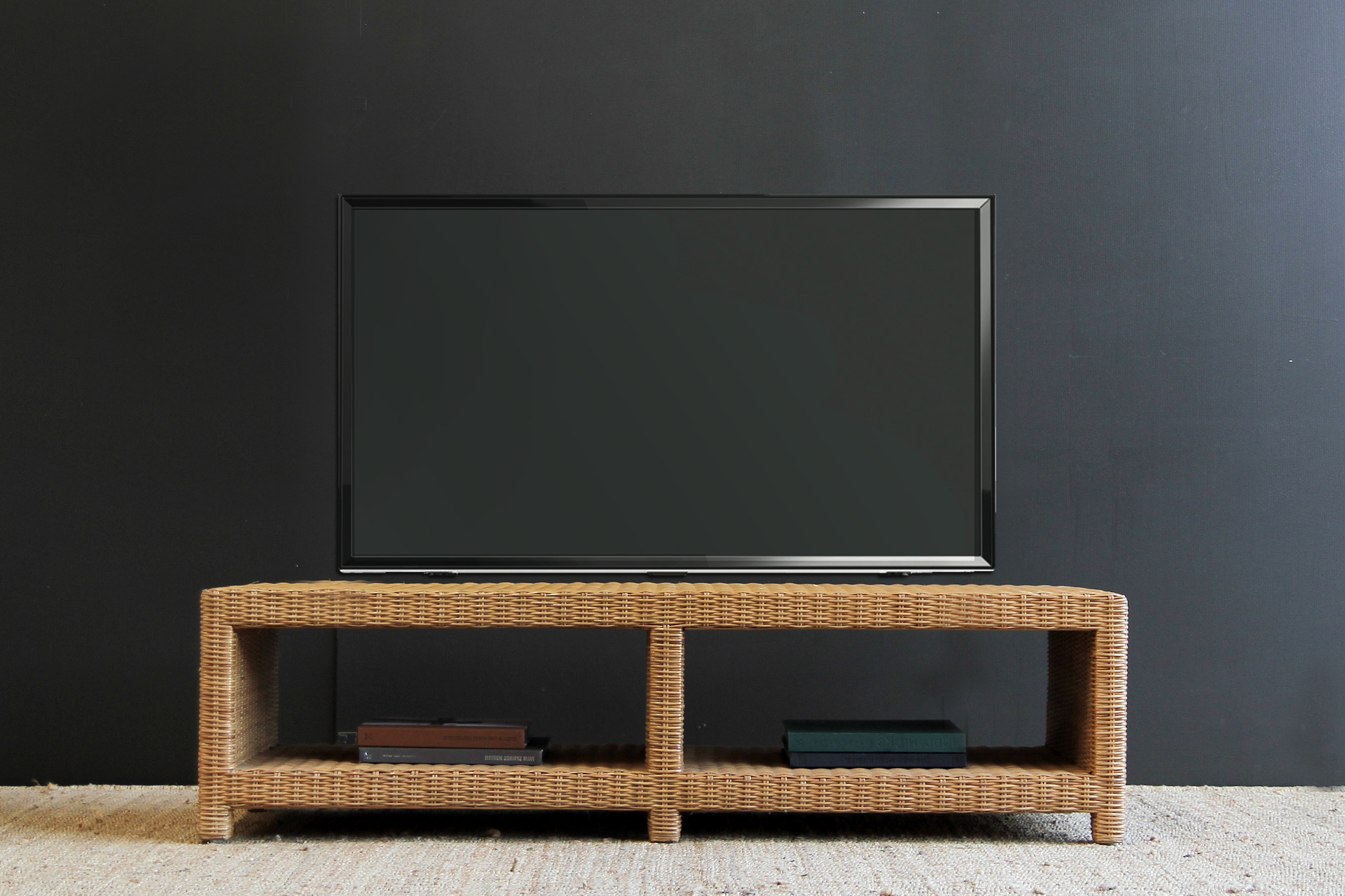 Tampa Low Line Tv Console | Naturally Cane Rattan And Wicker Furniture Regarding Natural Cane Media Console Tables (View 3 of 20)
