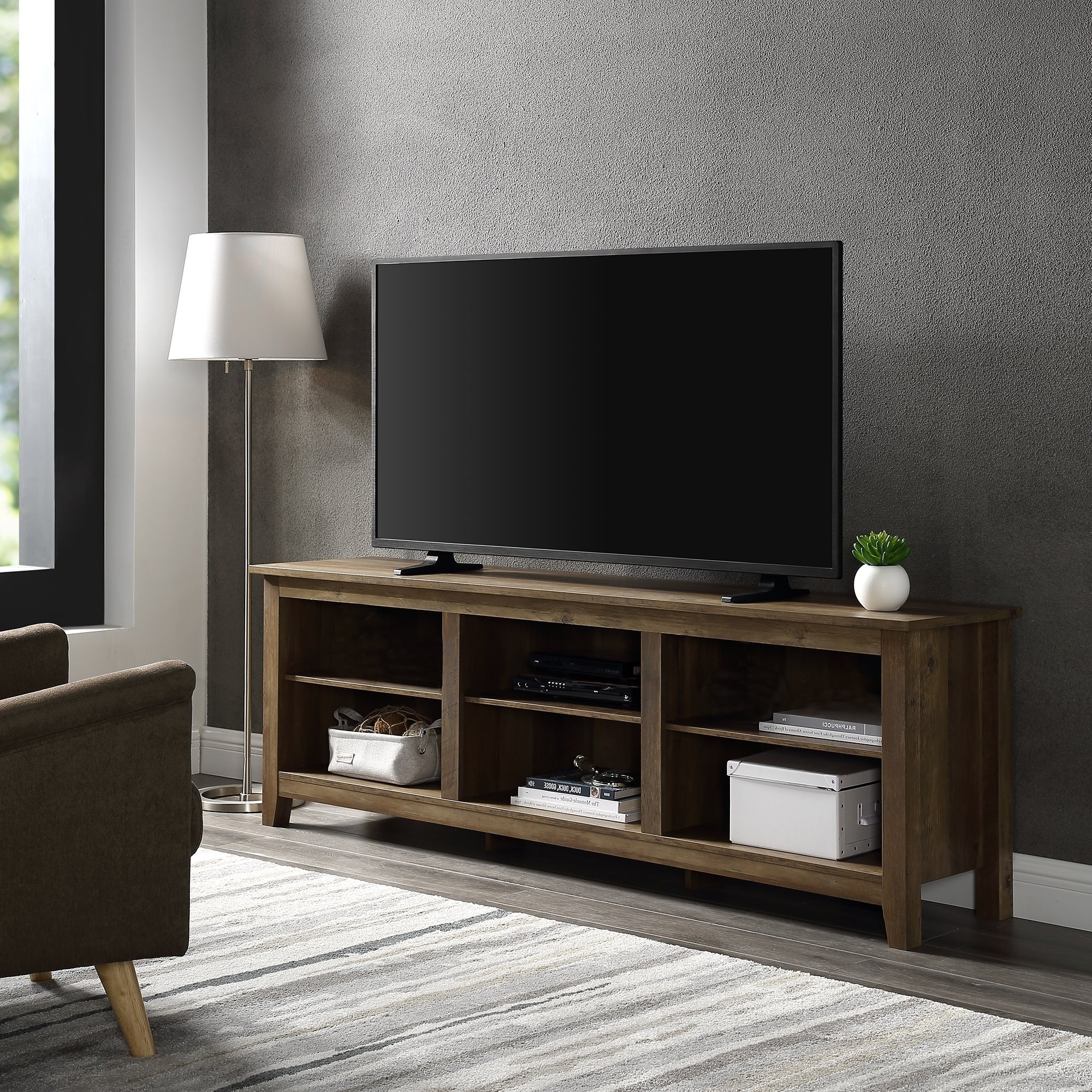 Tan, Tv Stands Living Room Furniture   Find Great Furniture Deals In Rowan 45 Inch Tv Stands (View 15 of 20)