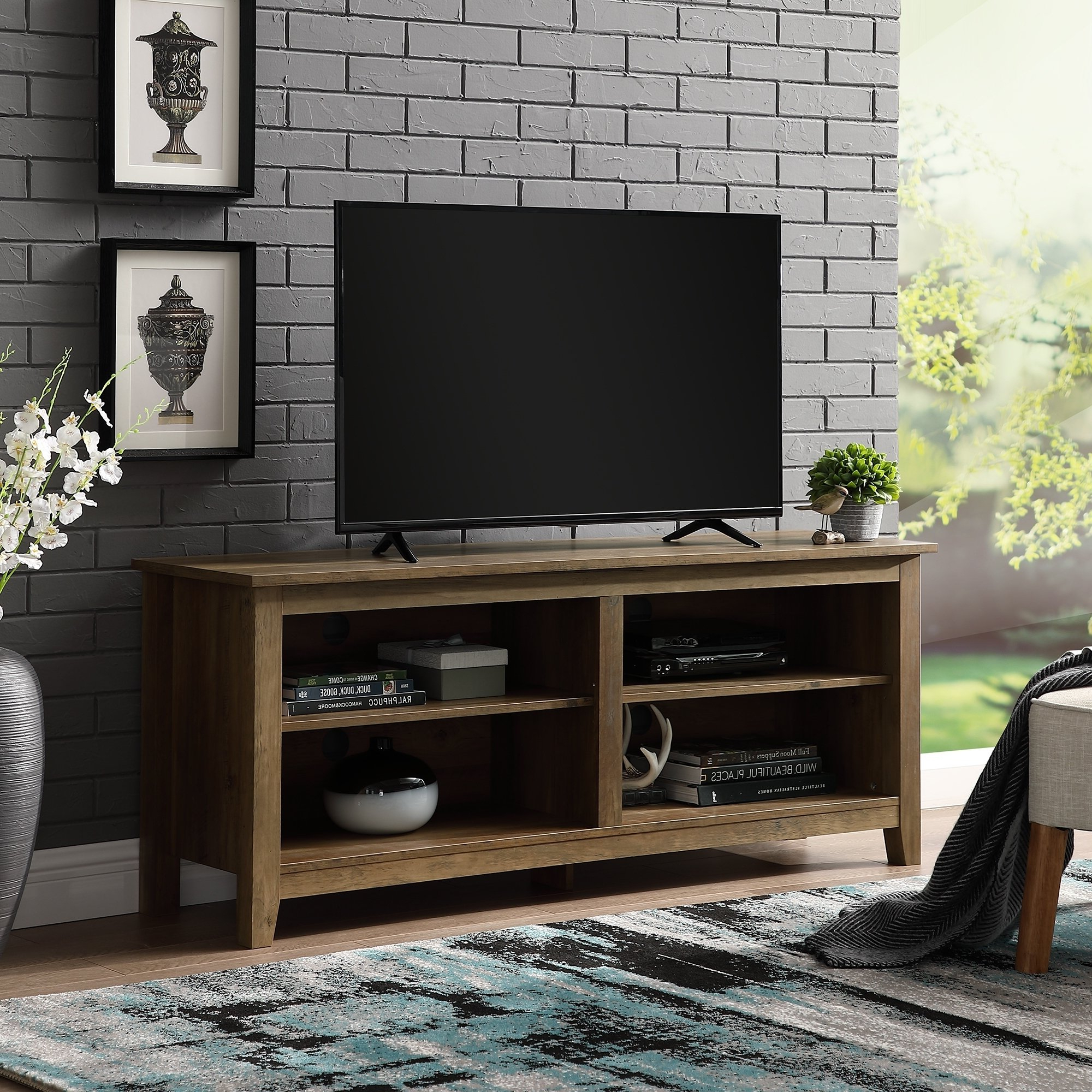 Tan, Tv Stands Living Room Furniture | Find Great Furniture Deals Inside Rowan 45 Inch Tv Stands (View 8 of 20)