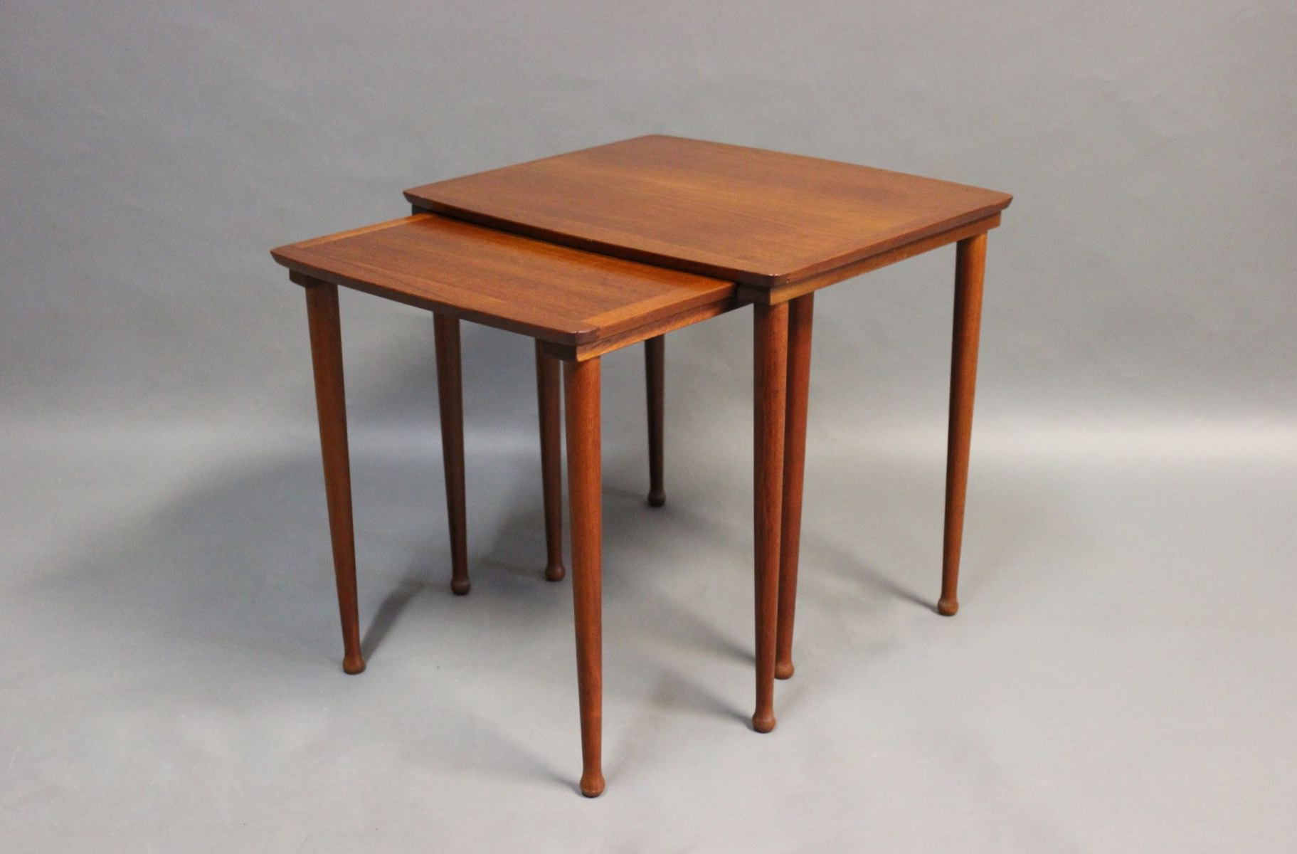 Teak Nesting Tables From Møbelintarsia, 1960s For Sale At Pamono Regarding Intarsia Console Tables (View 19 of 20)