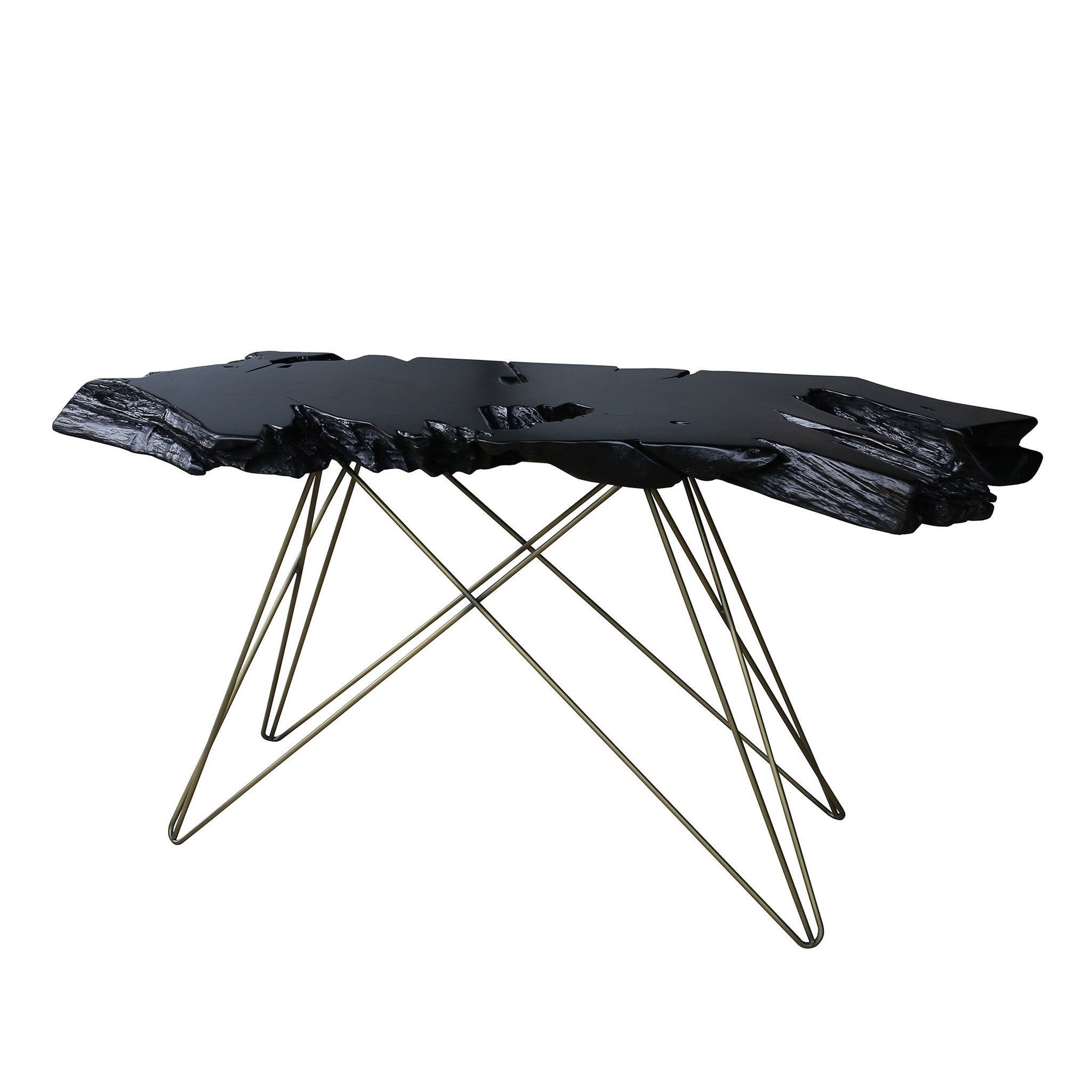 Tectona Console Table Dark Brown   Pinterest   Dark Brown, Console In Elke Marble Console Tables With Polished Aluminum Base (View 17 of 20)