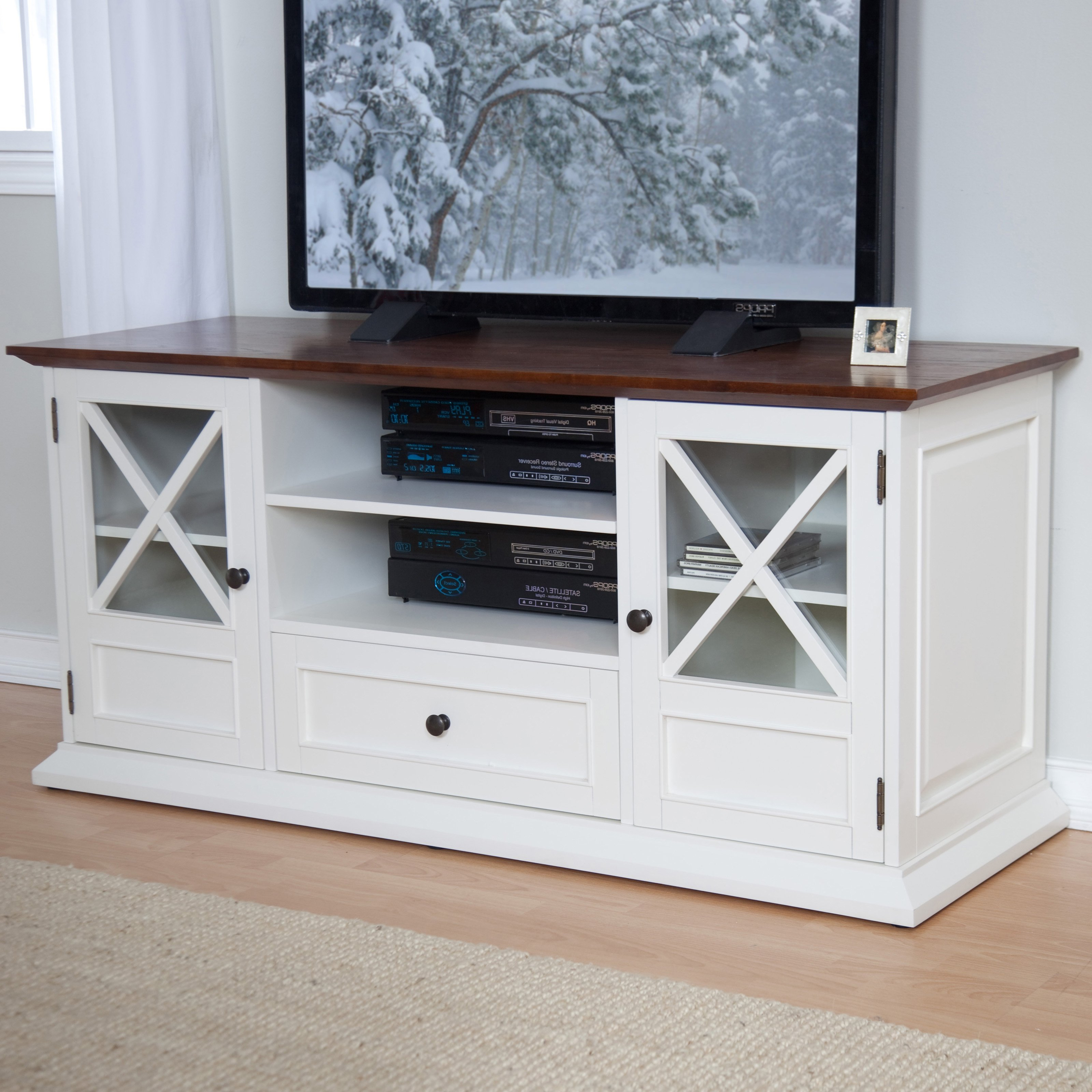 The Tv Stand Tv Cart Plus To Screen Vivous To Lovely Fireplace Plus Throughout Annabelle Cream 70 Inch Tv Stands (View 4 of 20)