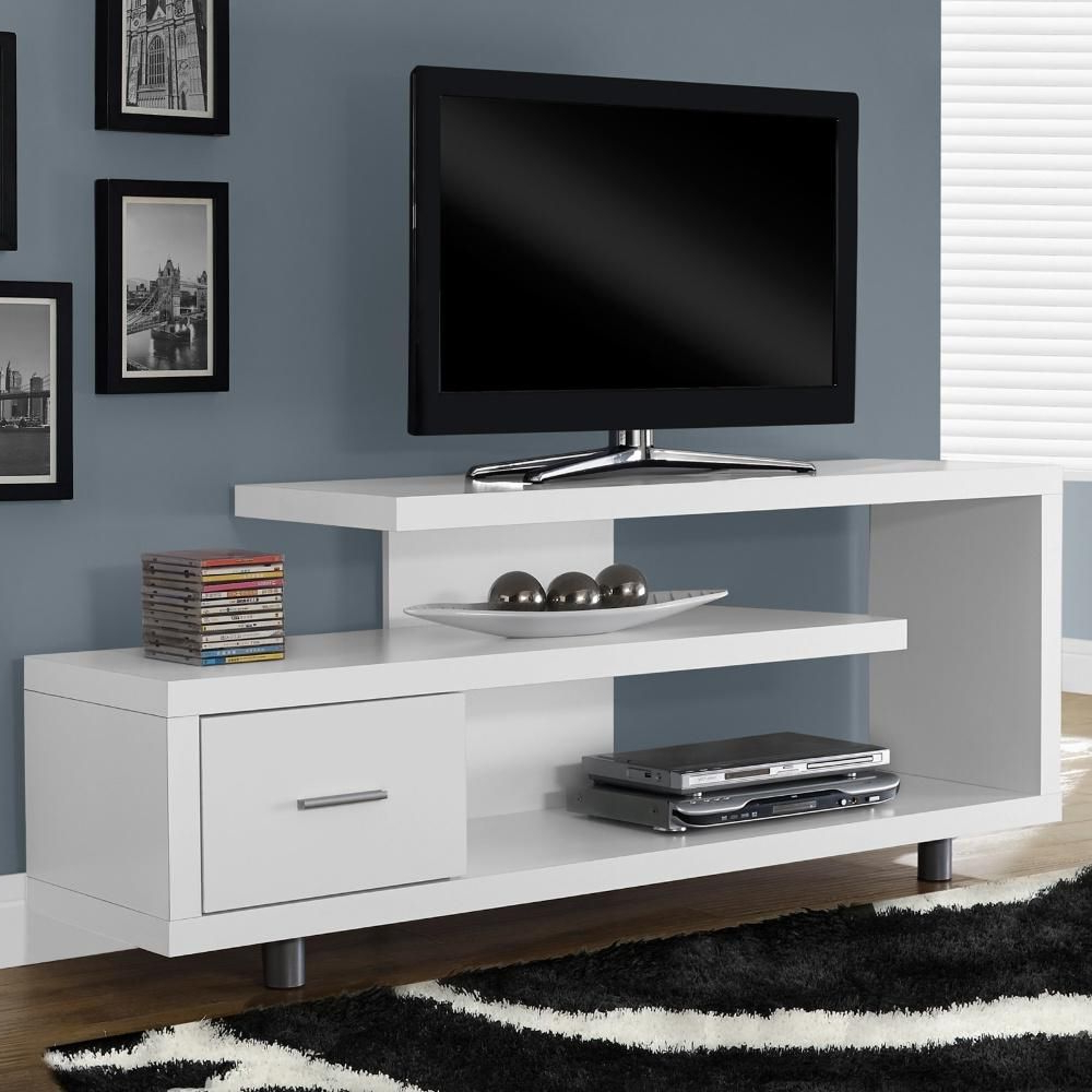This Functional And Beautiful Tv Stand Gives Your Home A Modern Look Within Dixon White 58 Inch Tv Stands (View 2 of 20)